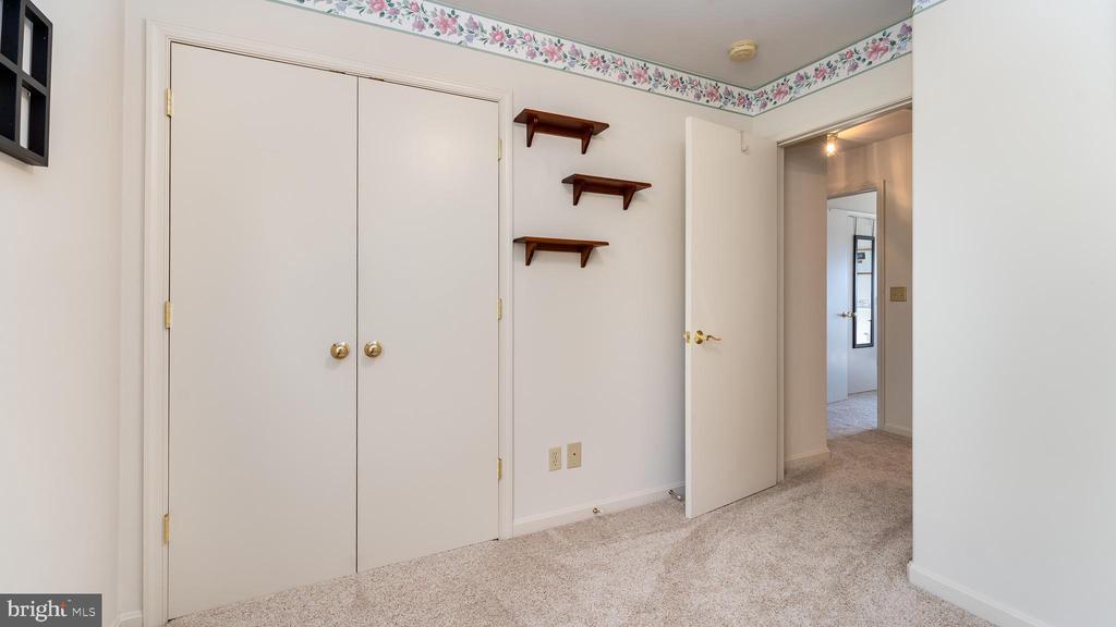 2nd bedroom view, showing double closet doors - 9835 PLAZA VIEW WAY, FREDERICKSBURG