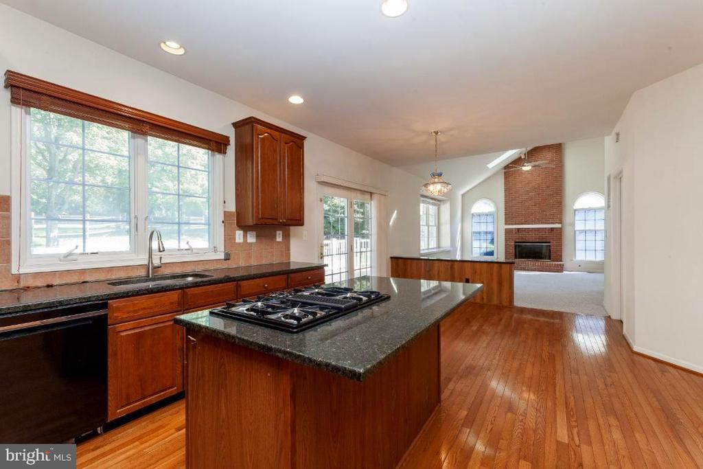 Kitchen and Huge Family Room Over- Look Back Deck - 47430 RIVERBANK FOREST PL, STERLING