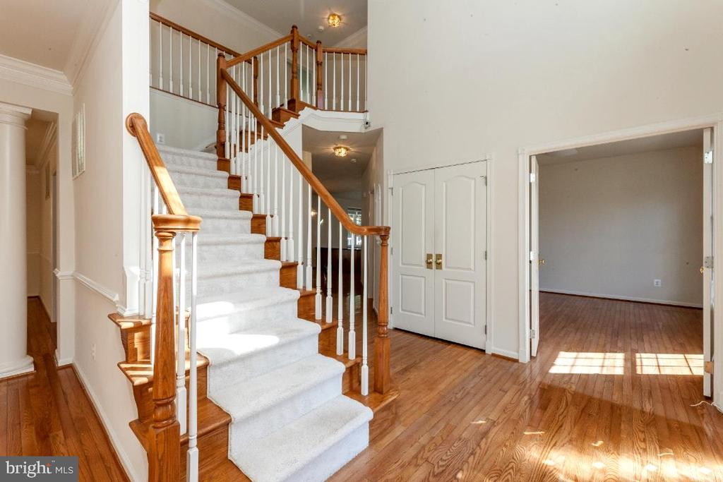 Stunning main staircase! - 47430 RIVERBANK FOREST PL, STERLING