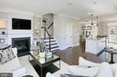 A gas fireplace offers  warmth on chilly nights! - 4348 4TH N, ARLINGTON