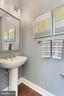 Main level powder room - ideal for guests ! - 4348 4TH N, ARLINGTON