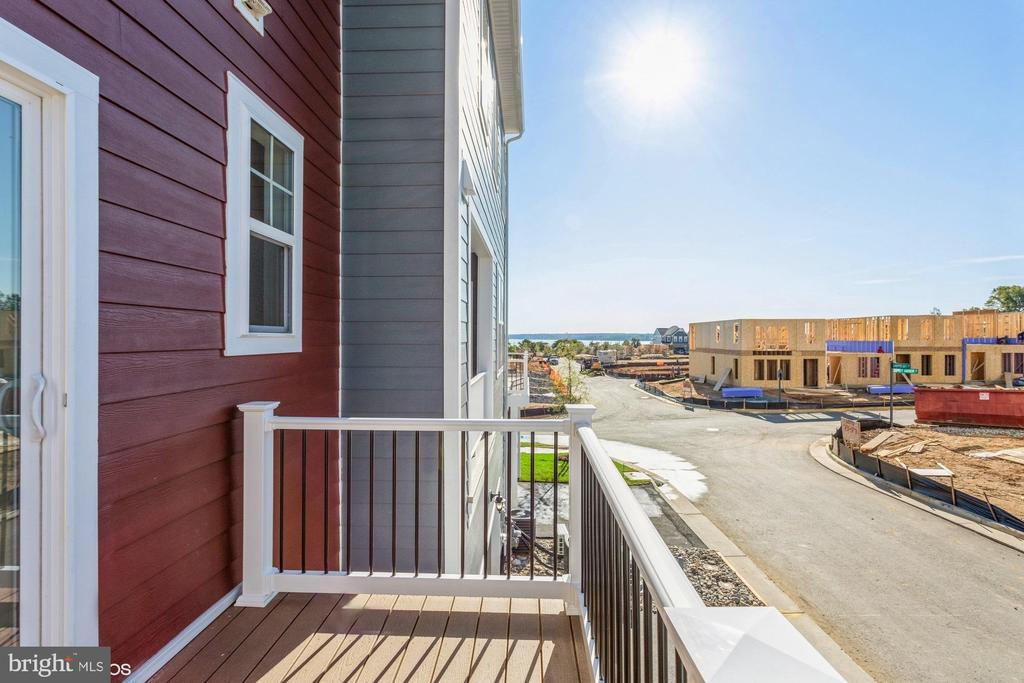Rear balcony with partial water view - 1634 SANDPIPER BAY LOOP, DUMFRIES