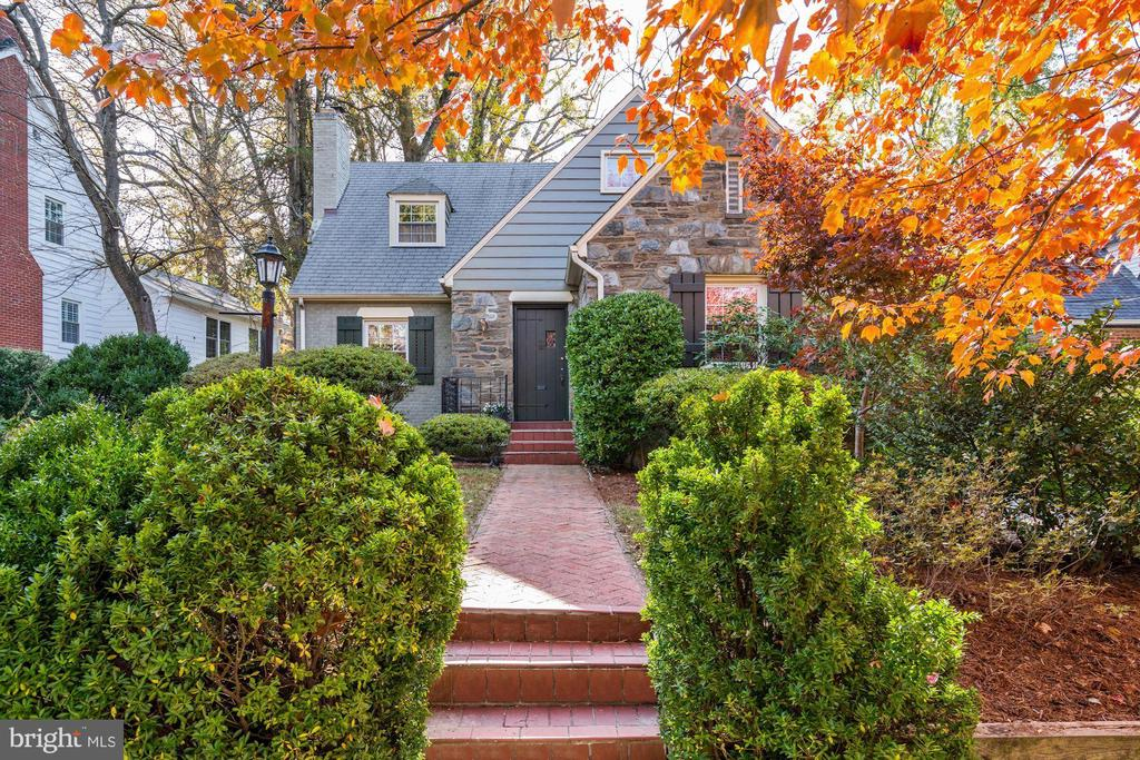 English Country Charm.  Delightful storybook cape on a picturesque street in the popular Chevy Chase West neighborhood.  Spacious rooms flooded with light, comfortable living areas and elegant appointments are the hallmarks of this enchanting home.  This distinctive residence boasts a gracious  living room with fireplace, lovely dining room, thoughtfully renovated chef's kitchen,  sun-drenched office and bedroom or family room with private bath on the main level.  There are two large bedrooms and a full bath upstairs.  The updated lower level includes a newly carpeted recreation room, fourth bedroom, full bath, laundry and lots of storage space. The lushly landscaped fenced yard is ideal for outdoor entertaining or quiet relaxation while also providing wonderful play space. This superbly located home is steps to the Capital Crescent Trail, Somerset Elementary School, the Bethesda Pool, and Norwood Park with its tennis courts, playgrounds and tot lots.  The Bethesda and Friendship Heights Metro Stations and the vibrant social life and restaurant scene of downtown Bethesda and Chevy Chase are all nearby.