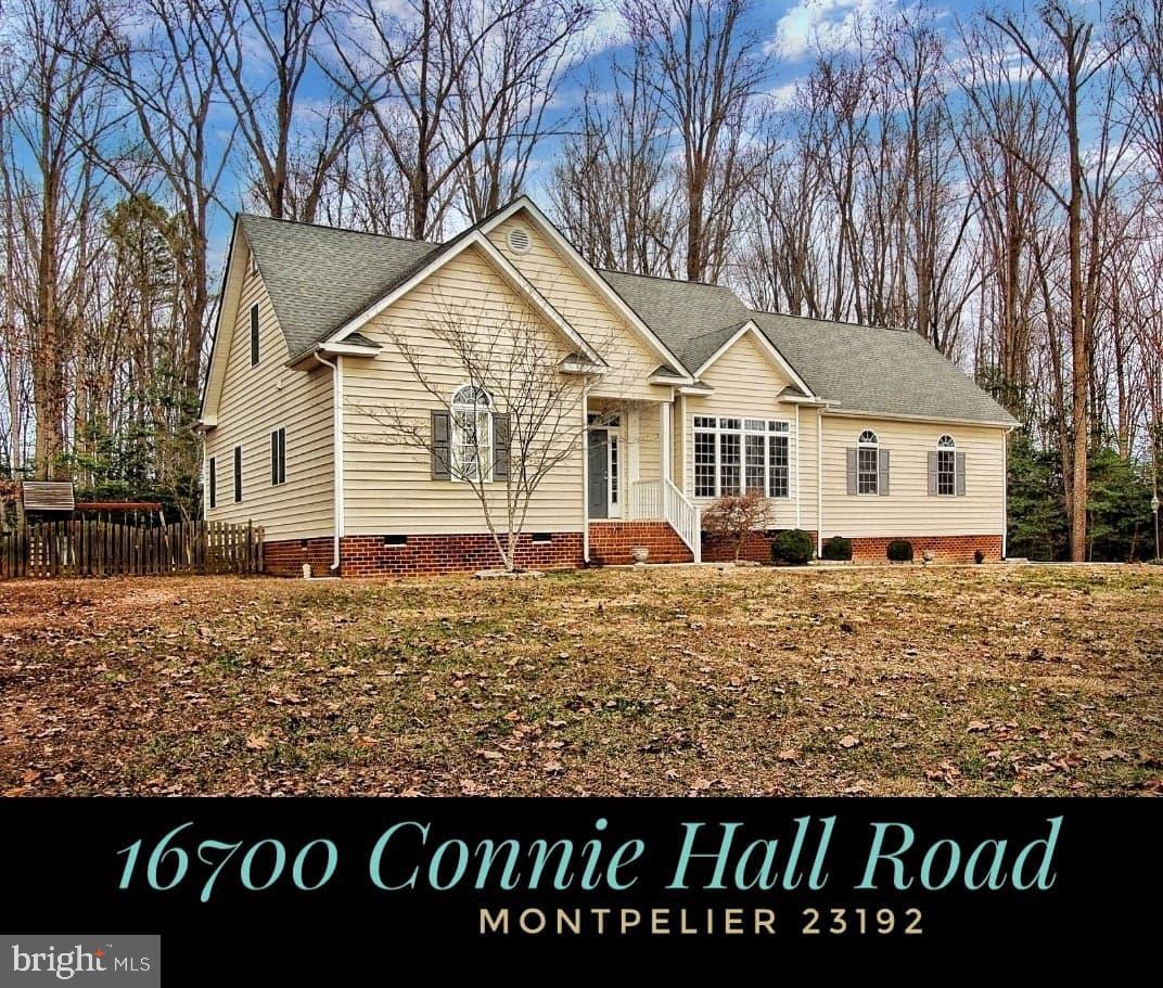 16700 CONNIE HALL ROAD, MONTPELIER, VA 23192