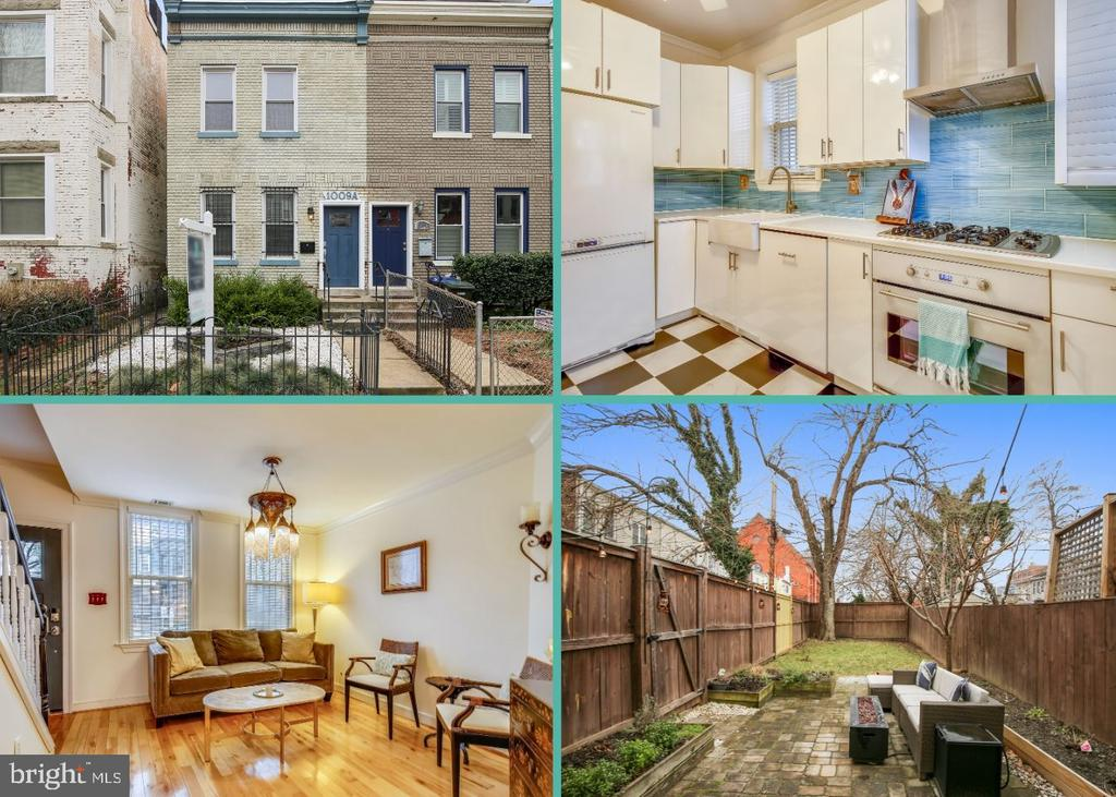 Open House Cancelled!  You will love this charming row home - close to all that the H Street Corridor has to offer! This end unit features two bedrooms, plus a den and over 1,100 sq ft on two levels. The beautifully renovated kitchen was smartly done with exceptional cabinet space and a fun, colorful backsplash. From the kitchen, you access the large backyard with patio and 6 foot privacy fence. Add in gorgeous hardwood floors throughout, wood burning fireplace, updated heating and cooling system, and you can truly move right in! This amazing location allows you to walk to DC's hippest bars, restaurants, shopping, entertainment, transportation and farmers market!