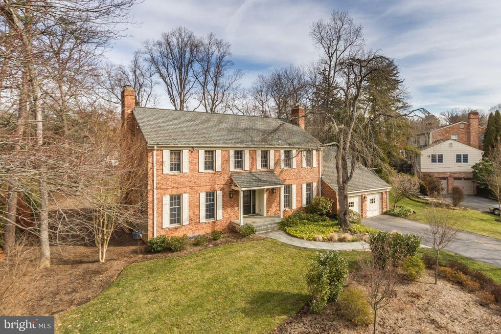 MUST SEE!!  OPEN SUNDAY 1-4 Elegant 4bd/3.5ba Colonial located in the sought-after Bradley Manor subdivisionsited on just over a 1/3 of an acre lot. At just over 3,600 finished square feet, this home offers aspacious, well-designed layout w/ hardwood floors and generous room sizes throughout.Highlights on the main level include a welcoming, light-filled foyer, an expansive great room w/gas fireplace, a large formal dining room, & a flexible living room/den or home office space w/fireplace & built-ins. The nicely renovated eat-in kitchen features stone countertops, a gascooktop, dual ovens, & built-in refrigerator. Adjacent to the kitchen is breakfast area w/oversized windows overlooking the spacious backyard. There is an abundance of pantry &storage space in the breakfast area & connecting mudroom.Formerly a five-bedroom home, the current owners reconfigured the space to create aluxurious master suite. The master bathroom is newly renovated w/ high-end finishes &features a large soaking tub, spacious custom shower, & dual vanity with quartz countertop.Connected to the master bath is an oversized walk-in closet & dressing area. The threesecondary bedrooms on this floor are all well-sized w/ abundant closet space, custom built-ins,and served by a large hall bath featuring a dual vanity & separate shower/tub area.The lower level of this home features an expansive recreation room recently remodeled with allnew paint & carpeting & includes a full bath. The exterior of this property is professionallylandscaped & upgraded throughout. The yard is spacious & could accommodate a pool ifdesired. A brand-new deck & slate patio round out all the beautiful features of this home.