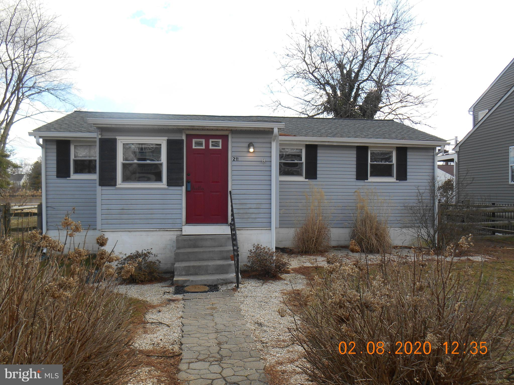 R-11349 Absolutely adorable 2 bedroom 1 bath home just down the street from the Delaware City Marina.  Large fenced in backyard with split rail fencing, large storage shed for extra storage.  Home has central air and natural gas heat, public sewer and public water.  Appliances will convey with the property.  Call for your appointment to see this cute home that has easy access to Rt. 1 and I-95.