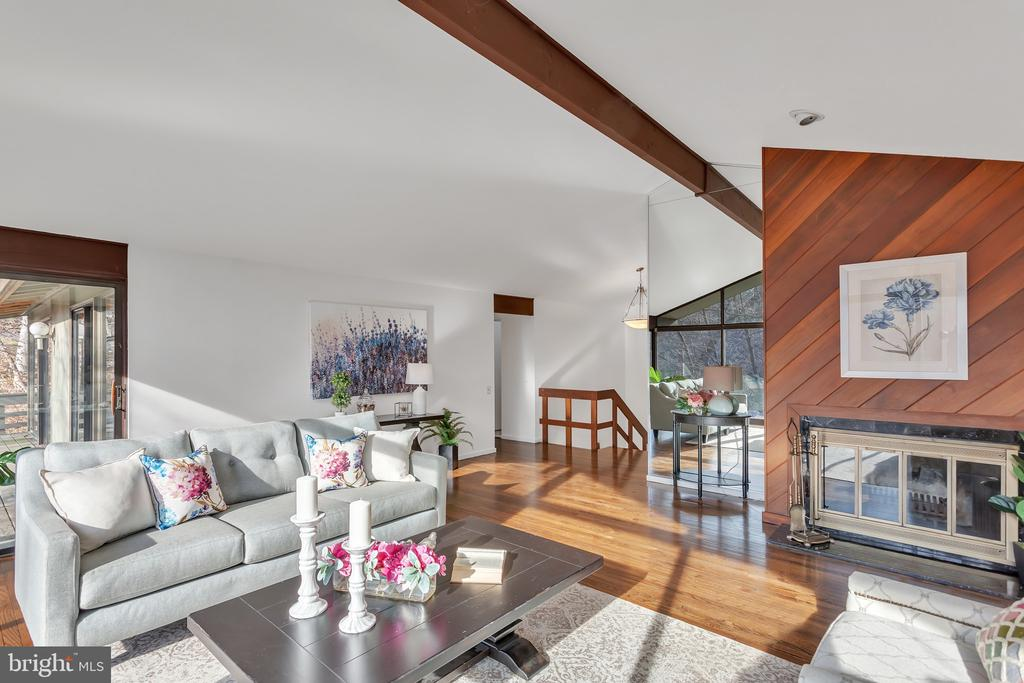 A rare opportunity to live among nature in the heart of the Main Line.  Designed by renowned architect, Robert McElroy, this mid century contemporary home is nestled in the cul de sac of Waldron Park Drive on a breathtaking .8 acre lot overlooking Trout Run stream.   Foor to ceiling windows flood the house with natural light. Vaulted ceilings, exposed beams and newly refinished hardwood floors are the framework for this open floor plan, perfect for entertaining. The kitchen and dining room combination span the back of the house. Beyond the common areas on the main floor are the Master Bedroom suite, a 2nd Bedroom and a half hall Bathroom. The lower level which was fully re-carpeted in 2020 includes a 3rd bedroom, and 2 additional rooms which could be purposed as bedrooms, home office or workout room. Two full hall bathrooms, and a laundry/mechanical room complete this level.  Perfect for the nature lover, this home also includes a walk out patio on the lower level which abuts a walking path to the creek. A 2 car garage is accessed by a covered breezeway. Simply stunning. Property has been pre inspected.