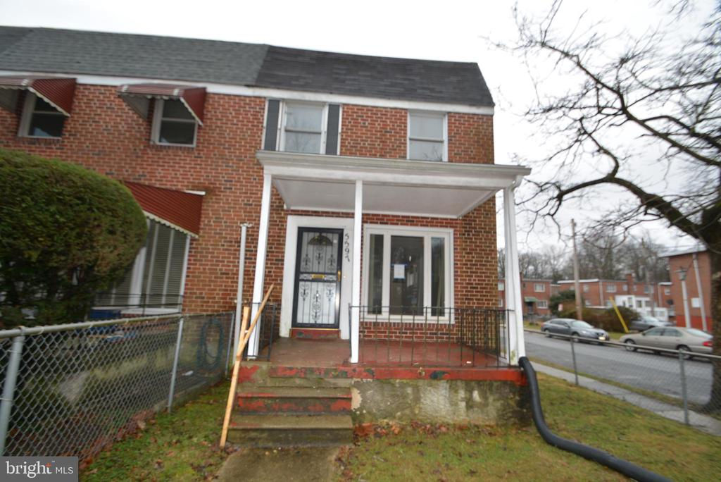 The Seller must comply with HUD Guidelines 24 CRF 206.125.    Brick Front Townhouse located in Grove Park with 3 Bedroom and 1 full bath on upper level, And one additional half bath on main level. Spacious Living Area, Front Porch, partially finished basement, rear deck and fence backyard. Close to W.Nothern Pkwy, Grove Park, Forest Park Golf Course, Powder Mill Park and Gwynn Oak Park.
