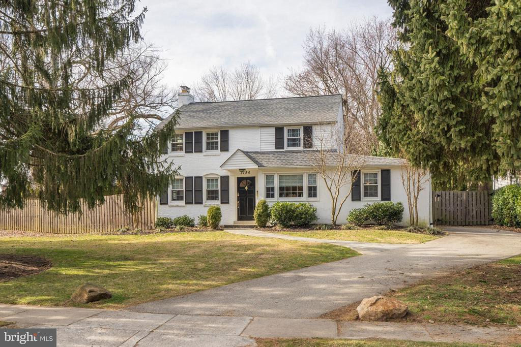 Welcome to 1134 Maplecrest Circle! What a wonderful, updated, and classic 60 year old colonial in highly desirable, tree-lined Maplecrest Neighborhood; a walk-to-Gladwyne location. Fall in love with the inviting front yard that leads you to this 4 bedroom, 1.5 bathroom home with 1,820 sqft of living space.  This beautiful home has a great flow to it.  Enter into the home to be greeted by fresh paint, elegant light fixtures, and hardwood flooring throughout. To the left is the cozy yet spacious fireside living room with a beautiful mantle and brick surround F/P, full wall of built-ins, and french doors that lead to the backyard.  Continuing on to the kitchen you will find plenty of cabinetry, durable tile flooring, granite countertops, new stainless steel appliances, gas cooking and a farmhouse style center island with seating!  Here you will also find a designated mudspace storage area.  Adjacent to the kitchen is the gorgeous dining room with chair rail detail and plenty of seating for holiday gatherings!  The main level also includes a guest room and a bonus room perfect for a playroom! The first floor is complete with a lovely powder room with stylish wallpaper and pedestal sink. Continuing on to the second level there are three generously proportioned bedrooms all equipped with ceiling fans; master bed offers a large walk-in closet!  All bedrooms on this level share a full bathroom with shower/tub combo and storage vanity/sink.  All this, plus, an awesome flagstone patio and grassy yard that is fully fenced-in; great for entertaining and gardening with the attached storage shed!  There is a basement with laundry and additional storage. Enjoy local amenities such as Gladwyne Commons which is a short stroll away from the heart of town where residents can enjoy The Gladwyne Market House, Gladwyne Corner Cafe, and the Gladwyne Public Library. There are also lovely parks and Rolling Hill trails nearby.  Located in sought-after Lower Merion School District with a shor