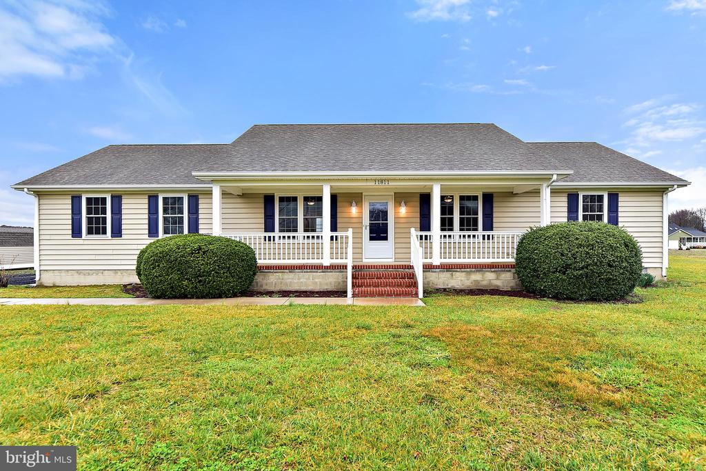 Clean as a whistle, move in ready 3 bedroom, 2 1/2 bath rancher in Bishopville. Quiet country feel while still being just short distance from Maryland and Delaware Beaches, as well as Berlin and Ocean Pines!  This home is absolutely move in ready, built ins in the living room, upgrades throughout, neutral color scheme and shows very well! Lots of space for kids and/or pets to run around.  Single car attached garage and then an additional storage shed.  Concrete front porch to sip Iced Tea on the hot days and a back deck for those awesome barbecues with family and friends! Neat as a pin, this house is just waiting on you and your furniture to move in!