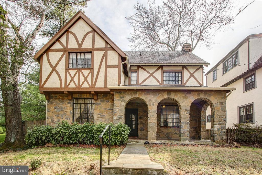 Chevy Chase Village gem!  This 1928 Tudor/stone home has been loving lived in by one family for 52 years and is ready for a new chapter    Terrific chance to make this one yours.  This well located house has charming stone arches on front porch. Endless possibilities with 4 BR 3 FB on 4 levels.  Work within the existing walls or expand out back or up top.  Large 2 car garage off alley in back.  This is located in Chevy Chase Village but not in the historic section.  Sold strictly in as -is condition    OFFERS DUE WEDNESDAY 3/11  2:00 PM