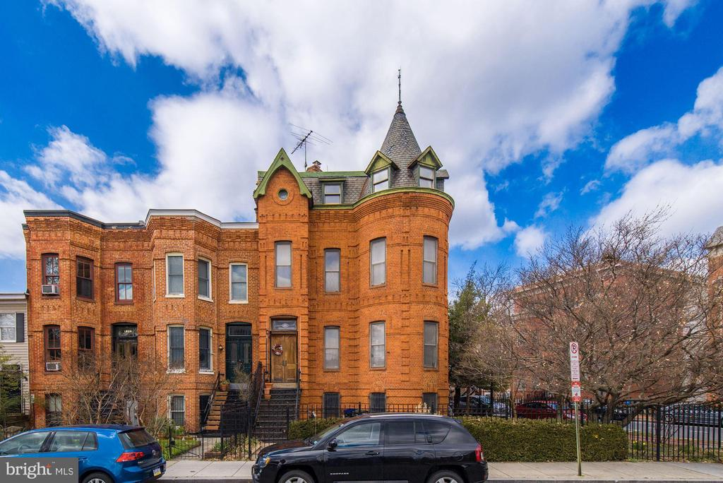 *** Check out the Matterport 3D tour and video!*** A storied, semi-detached Richardsonian Romanesque row home on a rare corner lot! 1842 Vermont Ave. NW is reputed to be the former residence of American Cross founder Clara Barton, and since it s construction in 1890 by legendary Washingtonian builder Diller Bear Goff, it has housed an eclectic cast of Shaw socialites, doctors, architects, and educators. Boasting over 3,200 square feet across three floors and a legal basement rental unit (w/ certificate of occupancy), the main house provides three bedrooms and two full bathrooms with its current layout, and could be reconfigured to provide additional bedrooms and bathrooms. This grand home has preserved much of its original architectural detail, woodwork, period charms, and maintains three fireplaces.  Soaring ceilings and multi-directional exposures provide ample light throughout the home, and secured front, side and back yards offer several outdoor entertaining and gardening areas. This offering provides an opportunity for it s next investor or occupant to restore this grand dame to glory!