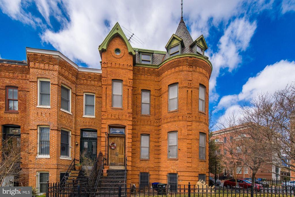 *** Check out the Matterport 3D tour and video!*** A storied, semi-detached Richardsonian Romanesque row home on a rare corner lot! 1842 Vermont Ave. NW is reputed to be the former residence of American Cross founder Clara Barton, and since it~s construction in 1890 by legendary Washingtonian builder Diller Bear Goff, it has housed an eclectic cast of Shaw socialites, doctors, architects, and educators. Boasting over 3,200 square feet across three floors and a legal basement rental unit (w/ certificate of occupancy), the main house provides three bedrooms and two full bathrooms with its current layout, and could be reconfigured to provide additional bedrooms and bathrooms. This grand home has preserved much of its original architectural detail, woodwork, period charms, and maintains three fireplaces.  Soaring ceilings and multi-directional exposures provide ample light throughout the home, and secured front, side and back yards offer several outdoor entertaining and gardening areas. This offering provides an opportunity for it~s next investor or occupant to restore this grand dame to glory!