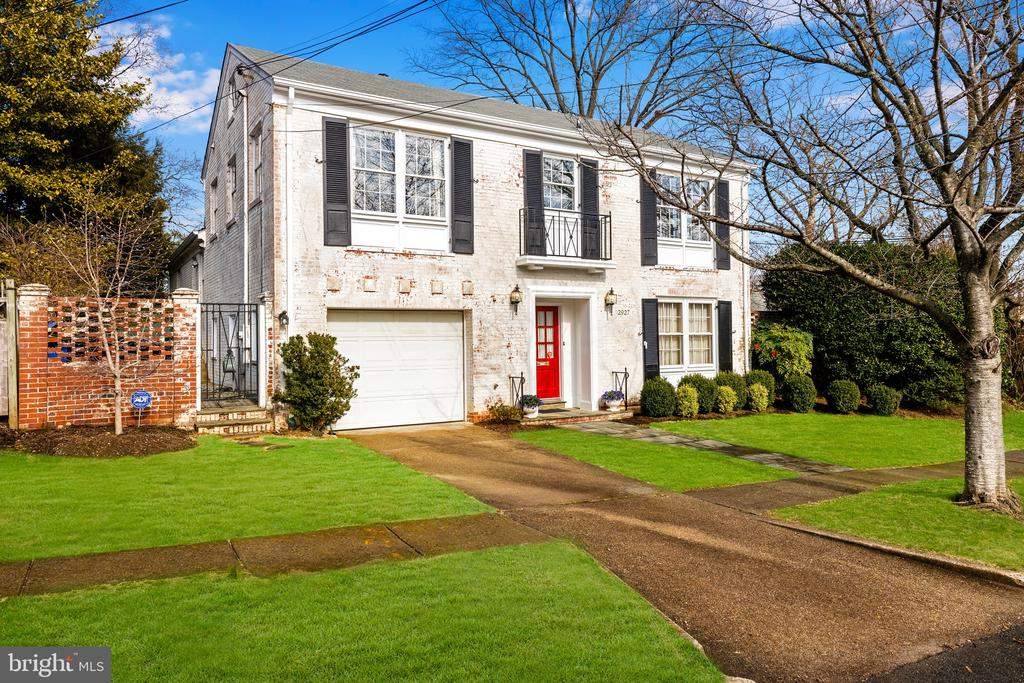 JUST LISTED! OPEN SAT & SUN 2-4pm! Picturesque 4-5BR/4BA whitewashed brick colonial on hidden-in-plain-sight Garfield Terrace - a serene, leafy cul-de-sac easily walkable to Woodley Park Metro, shops, restaurants, Oyster-Adams, Maret, WIS, & Cathedral schools! Airy floor plan with grand-scale rooms overlooking expansive lush & very private surrounding garden - formal Living and Dining rooms, attractive Kitchen, large entry level Family room/Library/Bedroom with walk-in closet, full bath, and french doors to private side garden and patio. 3 sunny bedrooms, 2 bathrooms up plus large attic space. Finished, sunlit lower level with spacious rec room, bonus room, full bath, & laundry. Garage and driveway parking.