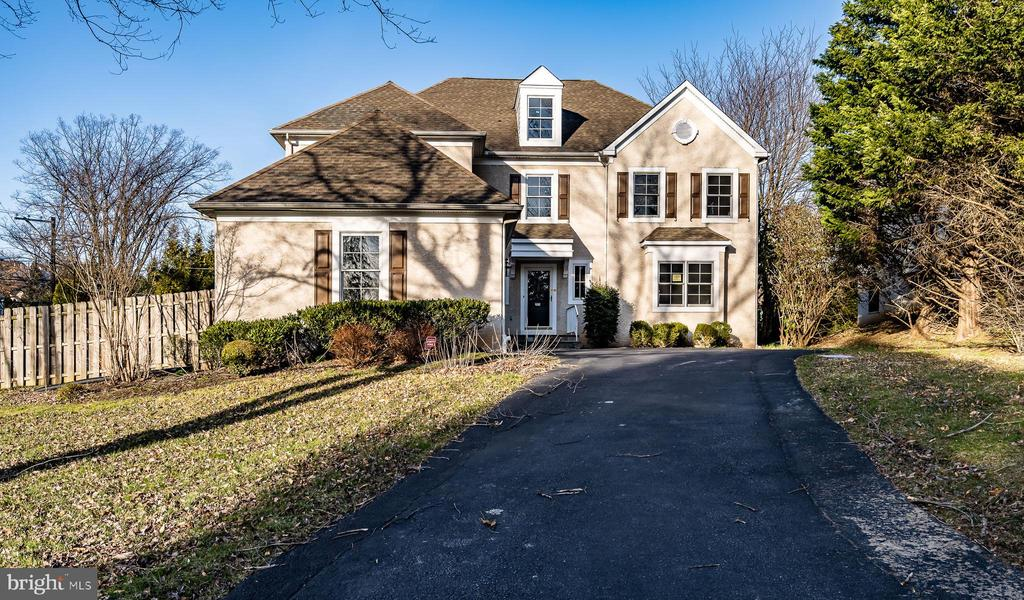 Welcome to this classic center hall Colonial on a quiet cul-de-sac. First floor has fireplaces in both LivingRoom and Family Room. Separate office/library off Living Room. Family Room opens to large eat-inkitchen with granite counters and island with chef's sink, pantry. Sliding doors open to deck withsteps leading to fenced yard. Formal dining Room off kitchen. Mud Room, additional coat closet and Laundry on first floor with inside access to 2 car garage. A powder room and guest coat closet off centerhall. Main level has hardwood floors, lots of wood trim and recessed lighting. Wainscoting and crown molding on first floor is continued in 2nd floor hallway. This floor offers large Master Bedroom with walk-in closet complete with fittings.  Fabulous Master Bathroom with soaking tub, shower, double sinks with builtin cabinets. A 2nd Bedroom has it's own bathroom with stall shower Two additional bedrooms share a Jack & Jill bathroom. The fourth bedroom has a very large closet that could also be used forstorage. Walk up to a finished third floor Bonus Room with additional cooling unit, that would makea perfect game room or play room. The basement is full and unfinished, with high ceilings so it could be finished for additional space. Plumbing is roughed in for a bathroom. Lower Merion schools, close to King of Prussia Mall, highways and public transportation.