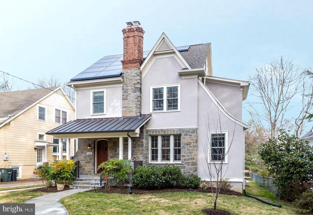 GORGEOUS NEW LISTING IN THE TOWN OF CHEVY CHASE- FIRST OPEN SAT 3/14 1-3pm and SUN 3/15 1-4pWelcome to 4405 Ridge Street, a fully renovated and expanded Arts and Crafts home with period finishes and a flexible modern floor plan, just steps from the conveniences of downtown Bethesda.  The first floor features a living room with the original stunning carved wood-burning fireplace.  French doors off the living room lead to a study with wood built-ins (possible guest room). The living room opens to a spacious dining room with built-ins.  A gourmet kitchen with stainless steel appliances opens to both a sunny eating nook and a large family room featuring a gas fireplace and French doors to the deck and yard. A powder room, large pantry closet and side entrance finish off the first floor.  Upstairs, on the second floor, there is a huge master bedroom suite with a sitting area, two walk-in closets and a master bath with multi-nozzle shower and separate tub.  There are two additional bedrooms and a hall bath as well as a laundry room on the second floor. The third level features a fourth bedroom and full bath, skylights, and a large finished storage area.  The fully finished walk-out lower level has an office, large playroom, fifth bedroom and full bath.  Outside, a spacious deck leads to a landscaped yards with a detached garage.  - email or text lister and go