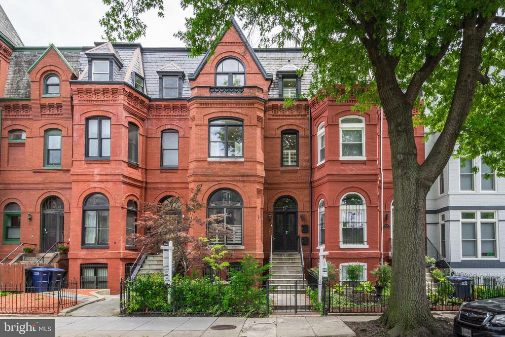 1890s Victorian row house converted into two condos.  Unit A offers 3 bedrooms, 2.5 baths, a private rear garden and secure garage parking.  High ceilings with west & east facing windows provide great ambient light.  The kitchen is equipped with Wolf & Viking appliances.  A large master bedroom with marble en suite.  An expansive main level that flows out to the garden.  Phenomenal location in Logan Circle.