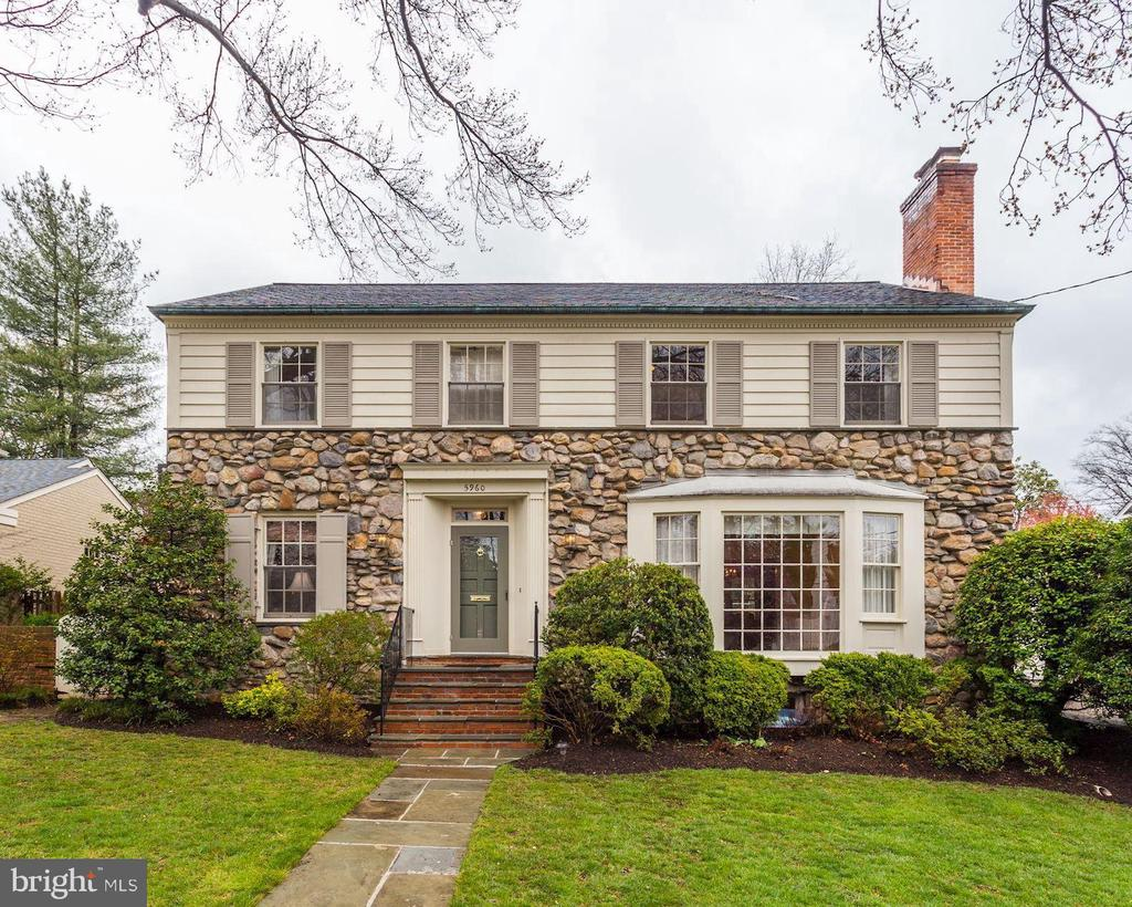 3D Tour by Homevisit! Superb stone and brick colonial on coveted Searl Terrace in Beacon Hill! On a beautiful, private, level and landscaped lot. Flooded with light, gracious large  room sizes, , crown molding. Lovely flow for entertaining. The first floor has entertaining sized LR (with fireplace and full bay window), elegant dining room,  a large bedroom or study with closet which adjoins the powder room and could easily be a bedroom. Excellent  kitchen with breakfast room.  A delightful (and huge!) screened porch runs along the back of the house with a large seating area and full dining area. Enjoy 3 meals a day al fresco! Throw open the doors when you are entertaining and spill outside...  The porch adjoins the expansive flagstone patio, a retaining wall with mature plantings creating a wonderful space for entertaining or just having a quiet cup of coffee. Beyond that is the level and beautifully landscaped garden with large grassy play area and plenty of room for a pool. Screened by mature trees, you have wonderful privacy and views. The master suite is expansive with en suite bath and a wall of closets. 3 more queen sized bedrooms with great closets. 2 full baths. Walk up stairs to full attic with large cedar closet. Excellent  expansion possibilities.  The lower level is full with high ceilings and daylight windows, separate entrance, a second fireplace and full bath, laundry, storage.  Wood floors on main and upper level protected under carpet for decades.  In impeccable condition, new roof, beautifully maintained. This is a home for the ages.  Walk to Woodacres park just a block away, Woodacres Elementary, Westbard shopping center (being redeveloped with new  restaurants and shopping), buses available on River (to Friendship Heights Metro in less than 10 minutes) and Mass Avenues. EZ commuting access to downtown, Bethesda, 270 corridor, Northern VA.  Sought-after Pyle and Whitman cluster.