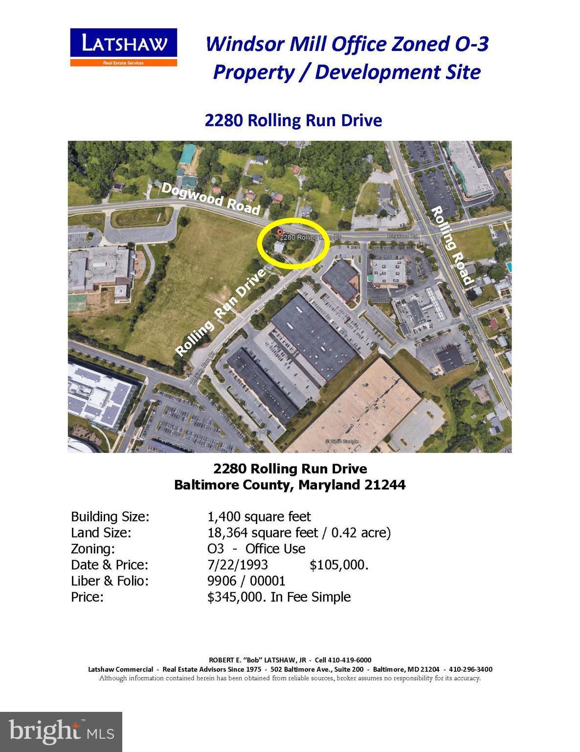2280 ROLLING RUN DRIVE, BALTIMORE, MD 21244