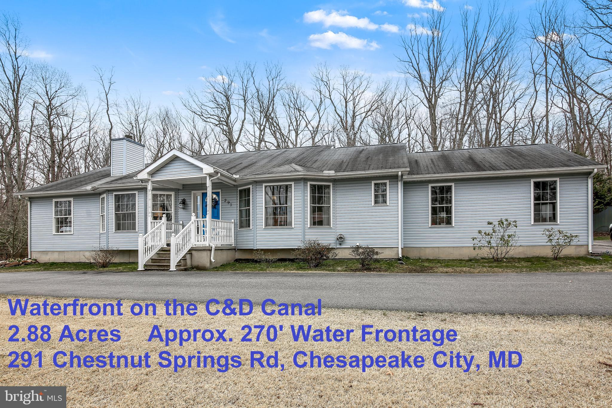 291 CHESTNUT SPRINGS ROAD, CHESAPEAKE CITY, MD 21915