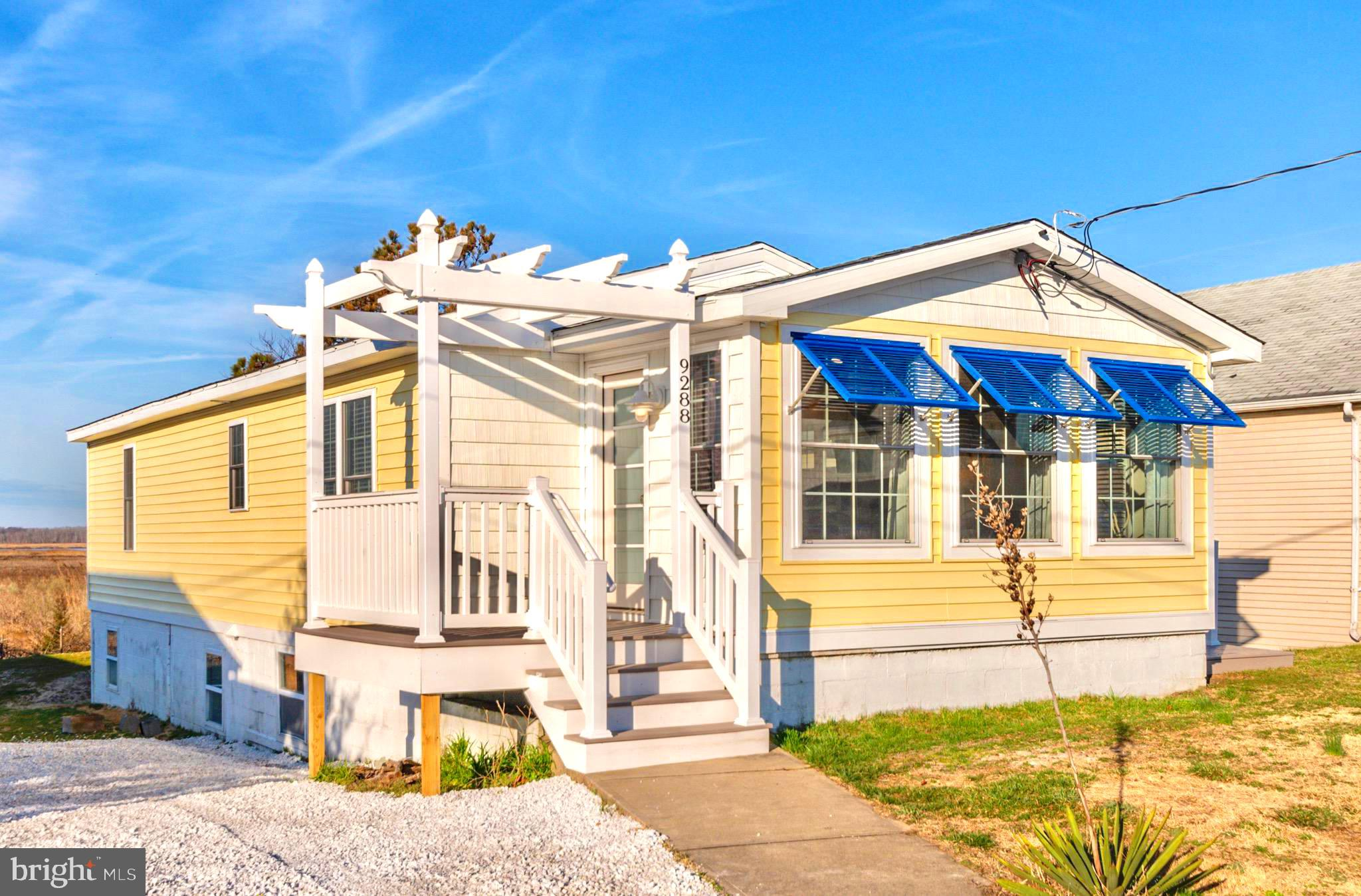 Absolutely turnkey home on Prime Hook Beach!  Newly renovated in 2019, this home should provide carefree living for many years.  The front of this beach cottage has bright blue awning shutters and pergola over entry that features a 5 panel frosted window door.  Then enter into a bright,  intelligently designed open floorplan -- offered furnished, the living, dining and kitchen area open to each other with bayviews which make this retreat even more pleasurable.  New ducted split high efficiency HVAC, new stainless appliances, and beautiful barn doors provide entry into the laundry area. Clean lines with comfortable, contemporary furniture to make summer enjoyment easy.  Tasteful thought in every detail -- glass shower doors, double vanity master sink, quartz countertops in kitchen along with tiled backsplash,  recessed lighting and crisp blue glass lights over clever antique style island.  Azak front and side decks for carefree outdoor enjoyment.  Plenty of storage under the home in an unfinished lower level area.  New septic.  Beach access just a few houses to the north.  All you need for your turnkey beach retreat.