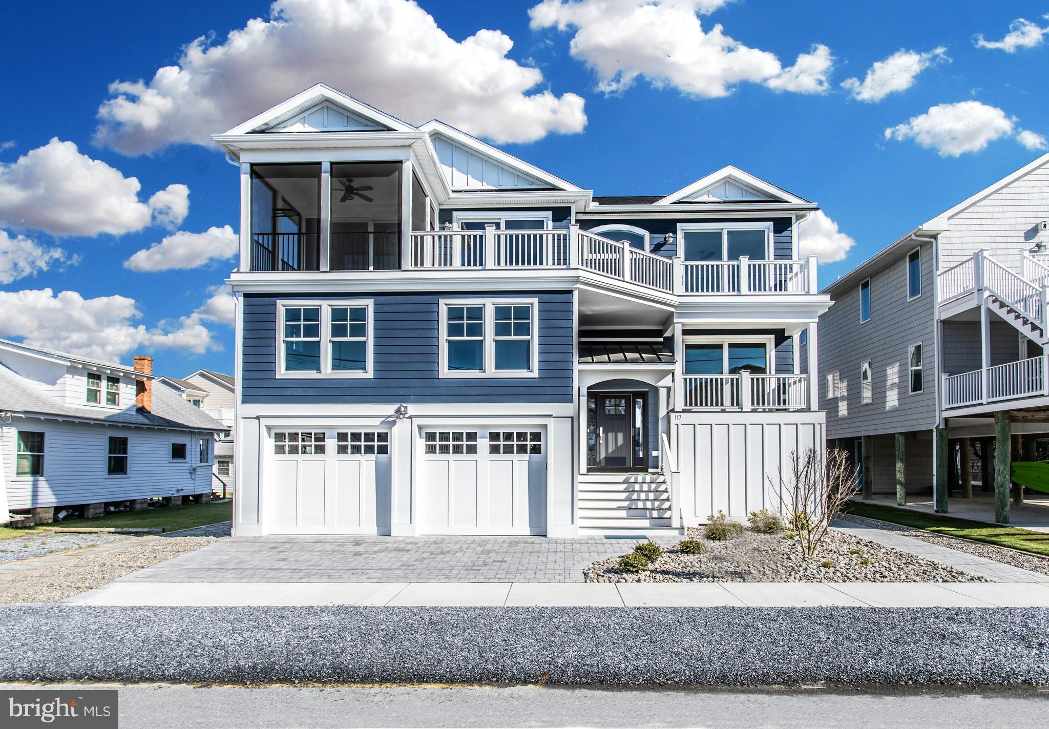 Enjoy the beaches and the charm of Bethany Beach with this brand new five-bedroom, four- and one-half bath home. This home boasts a reverse floor plan with all your main living spaces on the top floor to take advantage of views. The elevator in the house will make it easy to get from the entry-level to the bedroom level and the main living space. The home also features cathedral ceilings, a gourmet kitchen boasting a waterfall granite island and the dining area opens to the main living space. Other highlights include a screened porch, multiple decks, two master bedroom suites, custom tile, ship lap, beverage centers, gas fireplace, hardwood floors, central vac, security system, plenty of storage, outdoor shower, paver driveway and walks and many more extras. It has plenty of room for all your guests to visit as well as excellent rental income possibilities. Because you are steps away from the beach and the town, you can enjoy both the beach and the town of Bethany without ever having to move your car. This house is a MUST see for your home search.