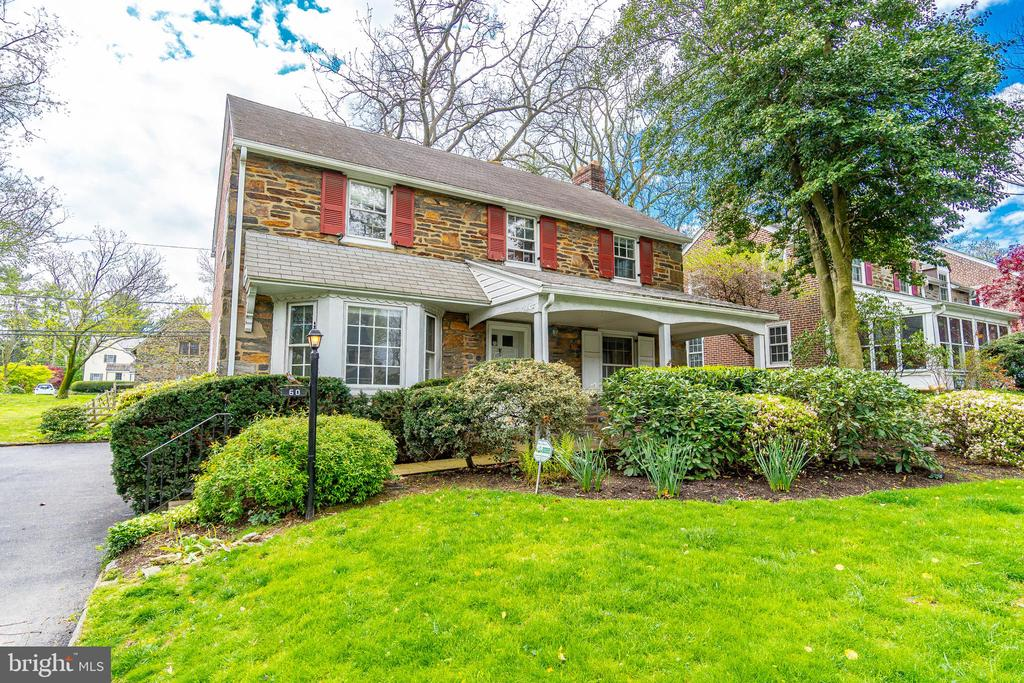 Welcome to 60 W Princeton Road, a solid brick/stone home with great bones in a superior Bala Cynwyd neighborhood! The first floor greets you to a foyer, living room with fireplace, dining room and kitchen with exit door leading out back. The upstairs has a master bedroom with master bathroom as well as 2 other bedrooms served by a hall bathroom. The basement is unfinished and offers loads of storage. Other amenities include a 1-car attached garage, central A/C, slate patio out back which is perfect for entertaining & a large front porch is ideal for morning tea or watching thunderstorms. This price allows the opportunity to get in one of the best neighborhoods in Lower Merion Township and make your renovations while being a short walk to the Bala Cynwyd schools. Property is being sold ~As Is~ and the Buyer is responsible for the Lower Merion Twp Use & Occupancy Certificate. A bank is acting on behalf of the Seller. The Bank will be reviewing any and all offers on Tuesday 5/26 at noon.