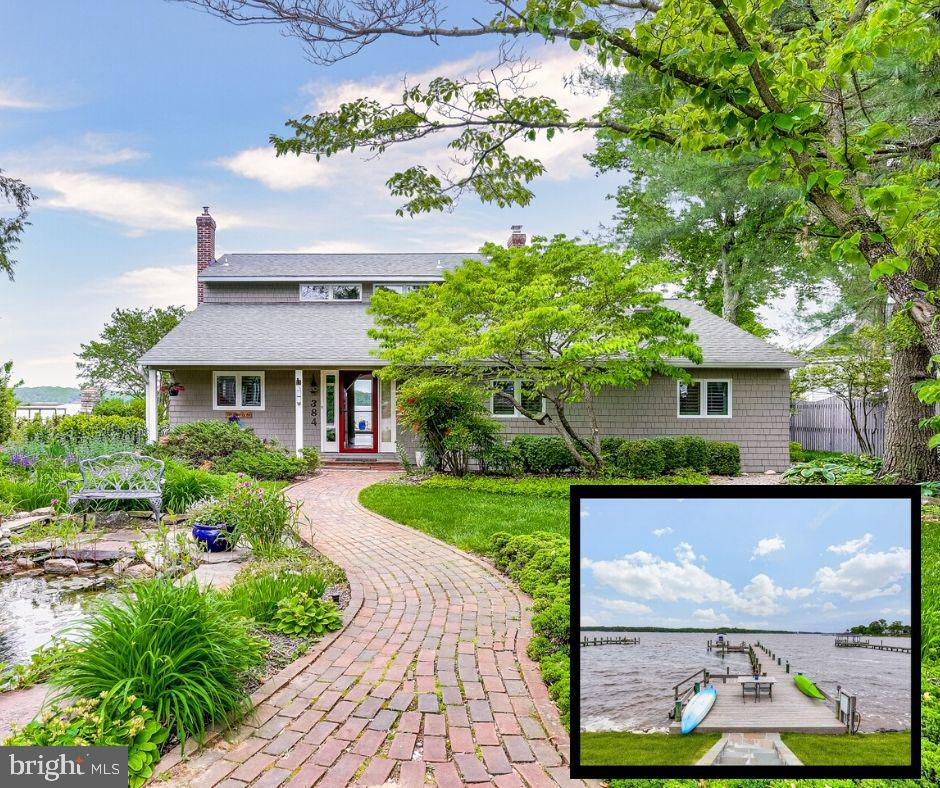 With broad views of the Magothy River and fully equipped pier, this waterfront home in Severna Park is full of features that set it apart from the others! The main home provides 4 bedrooms and 2.5 baths with plenty of space for the whole family and if you love to entertain guests or want some extra income, the spacious guest home with its own bedroom, bath, washer/dryer, and kitchen fits that need perfectly!  As you enter the property you are greeted with the serene fish pond and beautiful professional landscaping. The recently remodeled guest home sits on the frontage of the property and boasts a soaring ceiling in the open concept Living Room, Kitchen, Dining area, with a Full Bath and Master Bedroom with private patio and waterviews. As you approach the main home you can see straight through to immediately enjoy the spectacular views. This lovely home was built in 1920, renovated in 1981 and then completely remodeled and expanded in 2012. Renovations include all new energy-efficient Marvin windows and doors throughout the house, new (2019) energy-efficient HVAC system, redesigning of the foyer and hall bath, upgrading the kitchen, addition of the wet bar/butler's pantry/laundry room, enlarging the main level Master Bedroom, walk-in closet and the amazing Master Bath with roll-in shower, the spectacular screened porch off Master Suite and back deck, hardwood floors with insulation below and the addition of a half bath upstairs to service the two upper level bedrooms. Also new is a house-wide generator, for peace of mind. Come take a look at this wonderful home that checks so many boxes; waterfront location, outdoor living spaces, charming guest house and endless views. Welcome Home!