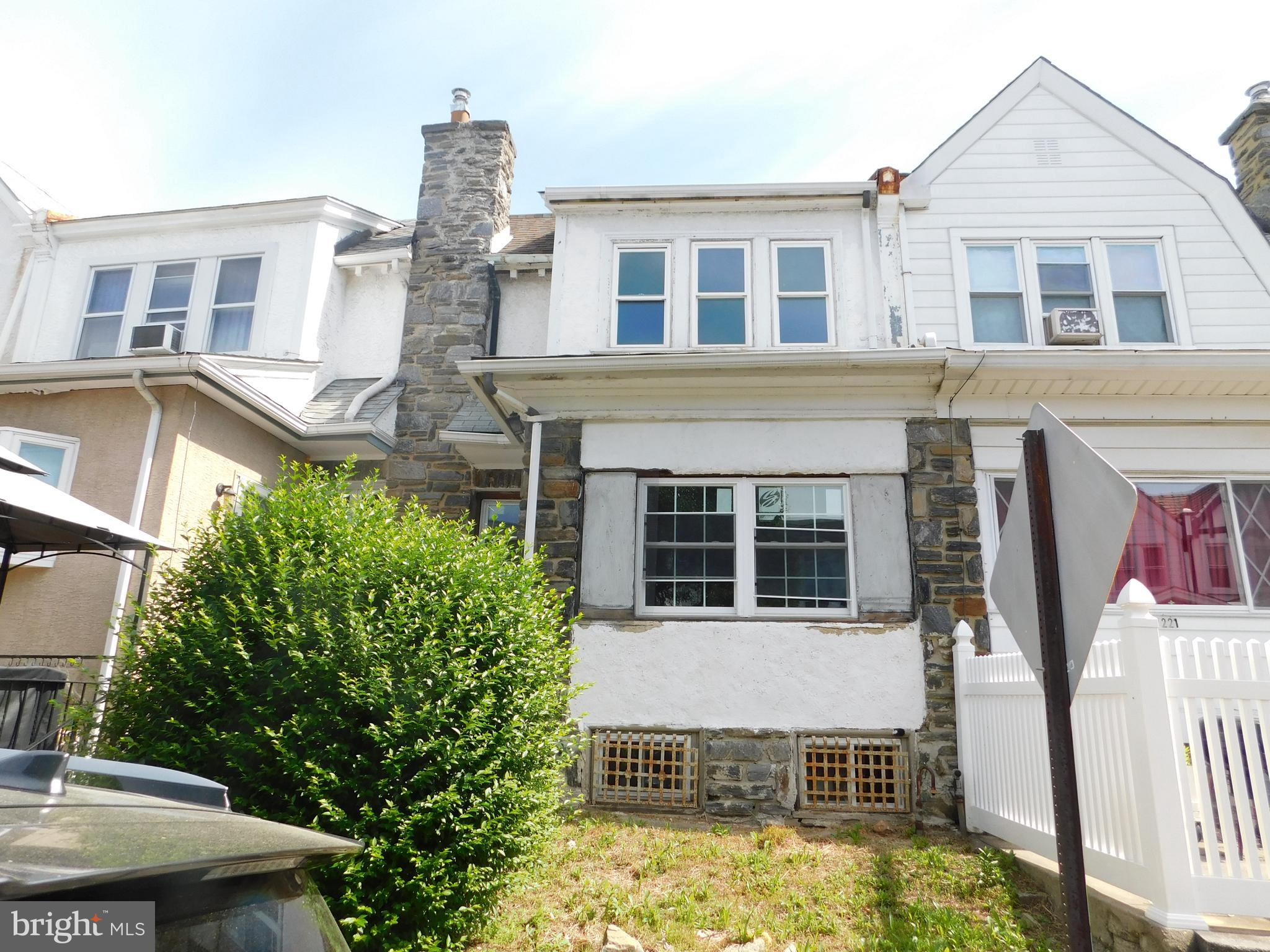 Investor Alert!   Property is being sold as is.  Buyer is responsible for ordering conditional U & O from township and any and all repairs called for.  Please bring a flashlight, basement is dark.  Buyer is responsible for clean out of house.