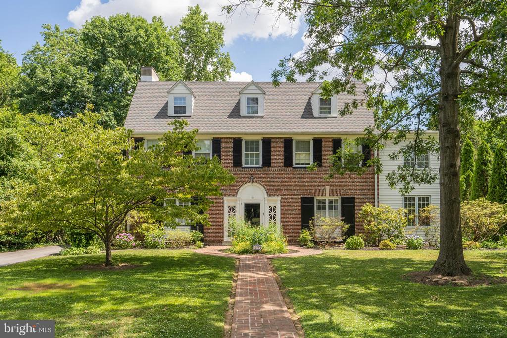 Fantastic opportunity to own a beautiful 4000+ sqft. center hall Colonial home in one of Haverford Townships most sought after neighborhoods - Merion Golf Manor. This gorgeous 6 bed, 6 bath home is seeping with character and complete with lavish crown molding, wainscoting, and hardwood floors spanning the first floor. A brick path leads you through a manicured and landscaped front yard to the elegantly framed front door. Enter into a spacious, classic foyer full of natural light and trimmed with molding. Moving to the left you will find yourself in your traditional dining room complete with wainscotting, framed windows and an elegant chandelier. With its cased opening and side door leading to the kitchen area, you will have ample room for effortless entertaining when hosting dinner parties and holiday gatherings. Moving towards the kitchen you will pass through the laundry room and to your generous gourmet kitchen. Recessed lights and south/east facing windows keep this space bright while elegant granite countertops, a chef's gas stove with range, and large pantry make this kitchen a dream to cook in. A second doorway brings you upstairs to the in-law suite complete with a spacious bedroom and full bath. The door to the outside takes you to a covered walkway leading to the attached garage. Returning back to the foyer and moving through the cased opening to the right, you will find your elegant living room with refined full mantle and glass door fireplace, large windows, and french doors leading to the patio. Continuing through the room, find your comfortable den with windows lining the wall keeping the room bright and airy and completed with a second fireplace. A powder room completes the first floor. Moving upstairs, to the second floor you will find your first set of spacious and inviting bedrooms. The master suite is airy and open, complete with lush carpet and 2 large closets. It has a full ensuite bathroom with soaking tub and bonus large sunroom that would make a great study, playroom, or cozy escape. Across the hall are 2 more generously sized bedrooms with ample closet space, connected by a jack and jill bathroom. Moving to the third floor you will find 2 additional bedrooms complete with spacious closets, a hallway bathroom, and an attic space with full standing head room and cedar closet.Head downstairs to the finished basement, where you will find an open space with half bath and kitchenette offering more great entertaining space. Outside you will be welcomed by a true oasis - an incredible entertaining area with a stunning, kidney shaped pool and a spacious, fenced in backyard. The yard is surrounded by mature trees giving you plenty of privacy. This property is a wonderful and rare opportunity and is looking to be loved by the next owner. Hardwood flooring can be found under the carpet.