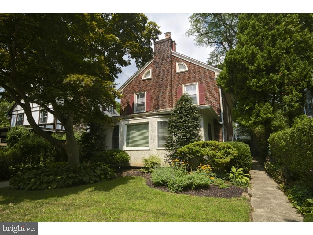 Classic, spacious, brick center hall colonial in Bala Cynwyd.  This home has been meticulously maintained and tastefully renovated. First floor features a generous entryway with a large formal living room (wood burning fireplace included) and play/family room/den  adjacent.  In addition, a formal dining room opens to the large, renovated eat-in kitchen with wood cabinets, granite counter tops, double wall ovens, two dishwashers, two sinks with disposals, built-in microwave plus a warming drawer. The kitchen has a separate outside  entrance to the patio and backyard. There is a laundry room is adjacent to the kitchen. A newly updated powder room completes this level. The 2nd floor features a master bedroom suite with a walk-in closet plus a bathroom complete with a Jacuzzi tub, tiled shower, double sink vanity and radiant heat floors. There are 2 additional bedrooms plus a den/office on this floor. There is a tiled hall bath, with double  sink vanity and radiant heat floors as well. Two linen closets finish this floor.The 3rd floor offers a spacious bedroom, full bathroom and it's own heating/cooling system for maximum comfort.This home has been lovingly  maintained including numerous upgrades and features throughout including refinished hardwood floors, high velocity central air, new gas boiler with 5 zones of heat, new hot water heater, updated electrical, replacement windows,  partial roof replacement, waterproofed  unfinished basement and sump pump, 1st floor lighting on a manual timer system and alarm system. Neutral decor throughout. This house is on a quiet tree-lined street with wonderful neighbors. Close to public transportation and houses of worship.