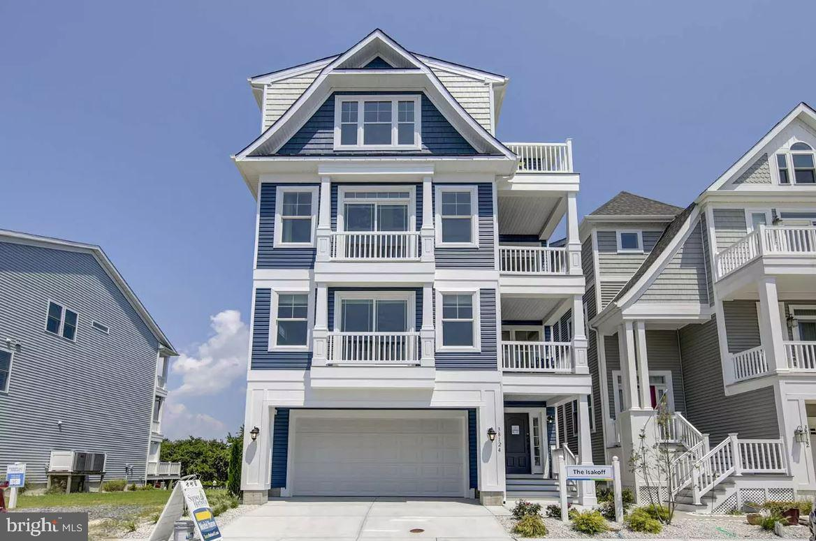 """Welcome to Sunset Harbour! Ocean View Delaware's most sought after waterfront luxury community located just 1.5 miles from Bethany Beach. The Isakoff Model features multiple levels of living with an expansive floor plan ranging from 3 - 7 bedrooms with over 4,300 square of living space accessible by an optional elevator. Each homesite in this waterfront community includes a 24 foot deeded boat slip allowing owners to park their boat just like their car. Interior features and options range from gourmet kitchens with waterfall countertops, decorative trim and moulding packages, energy efficient windows and construction methods, and sustainable product selections to make your beach home a true dream home. Other community features include a community dock, clubhouse, and community pool. This award winning """"green"""" builder constructs single family homes that are in the top 1% in the nation for energy efficiency. Each home also includes spectacular features, systems that create healthier air quality and advanced construction techniques that add to the integrity and value of the home."""