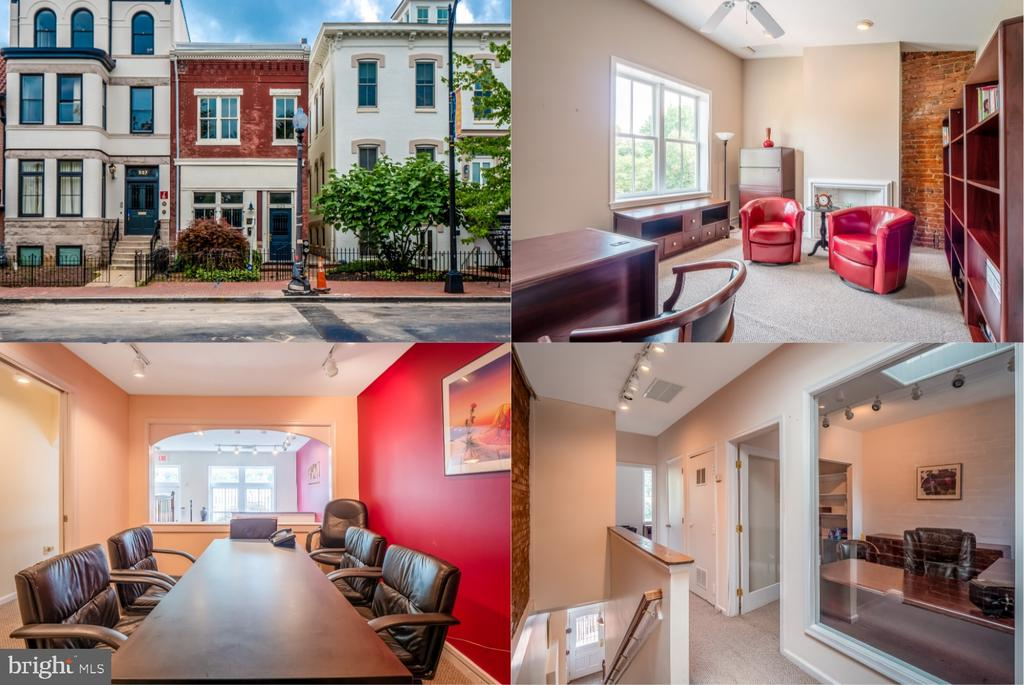 Dual use row house is located in DC's historic Stanton Park, steps away from Hart Senate Office Building and United States Capitol. Convenient location is within walking distance to multiple metro stops, H Street Corridor and Eastern market. Building is ready for a new owner, it features two stories with reception area, large conference room, multiple offices on top floor, two bathrooms, copy/storage room and an open deck. Includes a 4 car parking space behind the building. This is a turn key space perfect for a lobbying group, professional firm or a small business. Dual zoning creates multiple opportunities for this space. View Tour https://vimeo.com/439433183