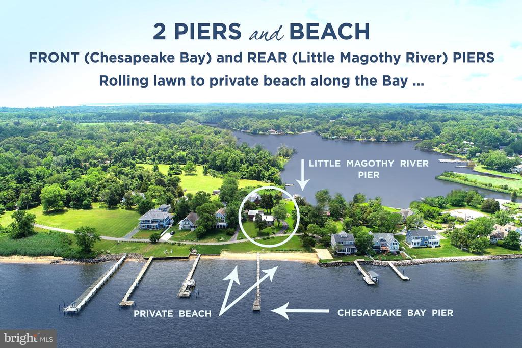 "*NOTHING COMPARES !  1.61 acre lot featuring Panoramic  Views of Chesapeake Bay and Little Magothy  River * TRULY A RARE FIND! * 100 ft. of Private Sandy Beach on the Chesapeake Bay with a 275 ft. pier * Waterfront on the Little Magothy River with a second 75 ft. Pier on the back side of the lot * Located on a private peninsula with just 11 homes * Minutes to  Historic Downtown Annapolis * 45 Minutes to Washington DC and Baltimore * To Be Built Coastal Farm House  featuring 4 bedrooms / 4 baths, 2 car garage and many interior upgrades * Designed with the feel of the ""Hamptons"" * Sited to allow fresh breezes to flow through from the Bay to the Riverside * Whitehall Building Company is a prestigious local custom builder specializing in Waterfront Homes * Recent Perc test * Showings by Appointment Only * Preliminary Loan Approval Required."