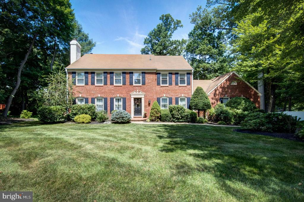 Don't miss this classic brick center hall colonial located in the desirable Fox Fields neighborhood of Bryn Mawr.  Sunlit windows, newly refinished beautiful hardwood floors and freshly painted neutral walls are the perfect backdrop for this immaculate and well-maintained home, ready for lucky new homeowners to move right in. Wonderful flow for everyday living as well as for entertaining. Highlights include a spectacular Paradise kitchen with furniture style cabinetry, over-sized island, granite counters, & neutral tile flooring. Gourmet stainless steel appliances incl. paneled built-in refrigerator, Wolf 6-burner dual fuel range, & warming drawer. The kitchen is open to the breakfast room & family room. The spacious family room features a painted brick hearth flanked by built-in cabinets and new carpeting. French doors from the breakfast room lead out to the spacious deck and fenced in backyard. Elegant dining room w/chair rail + crown molding. Expansive living room with brick fireplace and custom mantel. Renovated powder room w/marble-topped vanity with tile floor. A custom staircase leads to the 2nd floor. Luxurious master bedroom suite with large windows, 2 closets (one extra deep, walk-in.) En-suite master bathroom w/new quartz counters, sinks, & fixtures and dressing table. 3 spacious bedrooms complete the 2nd floor. Extra-large hallway bath with new quartz counters, sinks, & fixtures. New light fixtures throughout. Walk-in, floored attic storage over the garage. Huge finished basement plus 2 tiled bonus rooms (one with window, which is ideal for an office.) Large mudroom/laundry room leading directly to the 2 car garage. Conveniently located near schools, places of worship, parks, train, shopping, restaurants, and major routes with easy access to the airport and Center City Philadelphia.