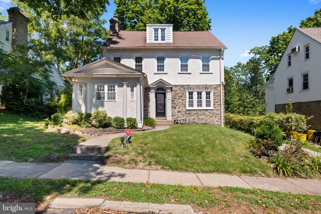 Thoughtfully updated, expanded stone colonial in sought-after Bala Cynwyd location.  Classic in every way... 1st floor features large living room with stone fireplace surround, open kitchen with white cabinetry, stainless appliances, natural stone counters and peninsula that accommodates the whole family, mudroom/pantry, walk-in coat closet, formal dining room and separate family room/den w/ half bath.  Hardwood floors and recessed lighting throughout.  Walk-in coat closet at base of stairs. 2nd floor master bedroom w/ walk-in closet, separate office, new marble bath w/ frameless glass shower and radiant in-floor heat, and two additional bedrooms. 3rd floor, 2 more bedrooms and hall bath.  Finished lower level, separate laundry room and new backyard patio round out this incredible opportunity. Walk-able to Bala Ave, train station(s), restaurants/shopping, and houses of worship.  Short ride to Center City Phila.