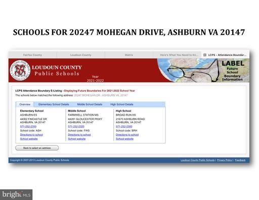 20247 Mohegan Dr Ashburn VA 20147