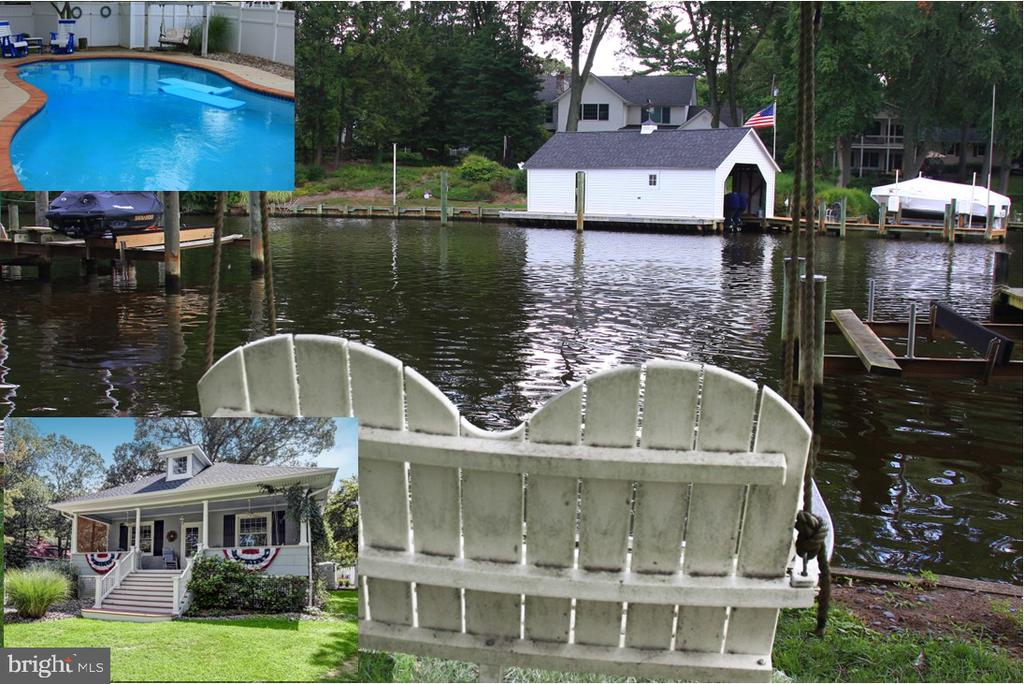 """""""Stay at Home"""" in this charming, Turn-of-Century, Vintage waterfront located on Cypress Creek in Severna Park. Large Southern-style porch gives you dreamy days with waterfront views. The pier has deep water, 2 boat lifts, and will accommodate 3 boats. A custom in-ground, heated,  saltwater pool is the icing on the cake! Inside you'll find updated bathrooms and turn-of-the-century charm that can only be found in the most high in demand communities. Built in 1939, period architectural features include, wide mouldings, original heart-pine floors throughout, solid wood 3 paneled doors, 10 ft ceilings, covered entry  porch street side,  and large columned, Southern-style porch on waterfront side. Glorious charm just oozes from this Chesapeake Cottage. Tremendous rehab potential to customize for today's stay-at-home lifestyle. You will not care if you never leave home again ."""