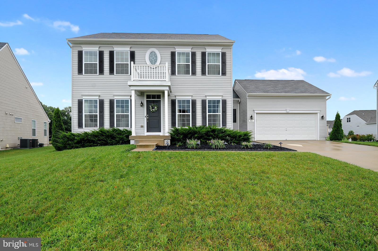Don't miss out on everything this move-in ready home has to offer in the desirable community of The Reserves at Chestnut Ridge. This gorgeous home was built in 2016 making it just 4 years young and is ready for it's new owners to love and enjoy for years to come! Enter into the front foyer which leads to the formal living to your left, the formal dining to your right, both spacious rooms that can be used for whatever suits your family's needs best. Straight ahead is the open concept kitchen and living room. Immediately upon entering you will notice the gorgeous dark flooring that runs throughout the main floor. The living room, kitchen and dining areas are all open to one another providing an optimal space for entertaining guests and providing plenty of room to mingle on the main floor. The living room is the perfect place to spend chilly nights next to the gas fireplace. Fall in love with granite counter tops, a wrap around two-tier peninsula with seating, stunning stainless steel appliances, white cabinetry with soft close drawers, pantry, and white subway tile are just some of the fantastic features in this incredible kitchen. Connected to the kitchen is a dining area with plantation shutters on the windows and slider that leads to the deck and backyard, which provides lots of natural light into the room. Also on the main floor is a half bathroom and laundry room with a deep utility sink for added convenience. Downstairs there is a finished basement that features plenty of room for an office space, kids playroom, entertainment/man cave or many other possibilities! The basement also has an unfinished area with a rough-in for a future bathroom. On the second floor you will find the master suite and three additional bedrooms that share a full bathroom. All of the bedrooms are very spacious and have plenty of room to spread out. The full bathroom to be shared with the three additional bedrooms has a dual vanity with granite counter tops. The luxurious master bedroom 