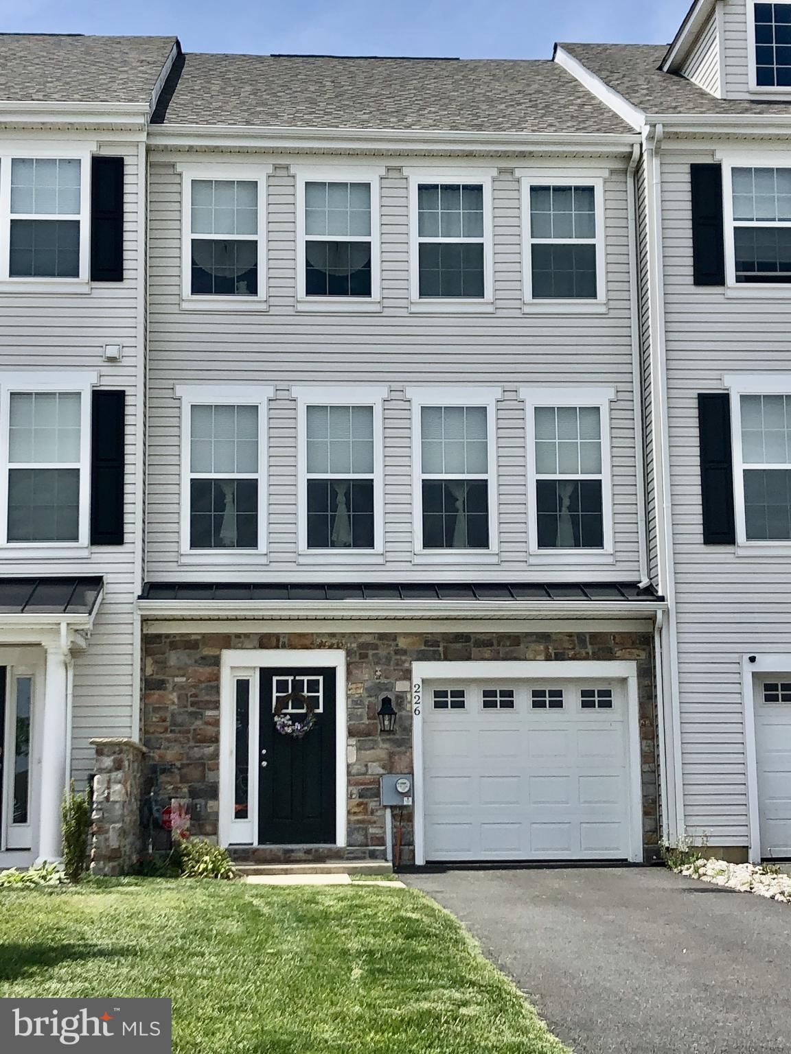 Visit this home virtually: http://www.vht.com/434101365/IDXS - Welcome home to 226 Rutland in the highly sought after Ponds Of Odessa and the Appoquinimink School district! This ageless architectural designed, 3-Story partial stone veneer townhome is one of the best, if not the best, in the area. Why wait for new construction when you can buy this lovely home with that hard to find 4th bedroom option for under $300k? The large brightly lit entry foyer leads to the 1 car garage then to the full finished basement that can be used as a 4th bedroom since it has the required closet and door to qualify. This level is complete with a sectioned off area with plumbing roughed in for a future bathroom that the new homeowner can add to their liking. Enjoy entertaining on the main level in the large open concept living room (with a portable electric fireplace), dining room combo adjacent to the eat-in kitchen. The kitchen is a chef's delight that features ample cabinets, a pantry, breakfast nook and included stainless steel appliances. For outdoor entertainment and grilling walk through the sliders off the kitchen to a 14 x 12 deck. Upstairs you'll find 3 nice sized bedrooms that include a master bedroom with a ceiling fan, walk-in closet, and owners bath. The other two bedrooms share a hallway bathroom and there's also a nice size hallway closet. For added convenience the washer and dryer (included) are also located on this level. The central location of this community means easy commute to major highways, shopping, dining, pubs and more. It's less than 2hrs away from the Delaware beaches. Schedule your appointment toady! Note: Square footage & room dimensions are approximated.