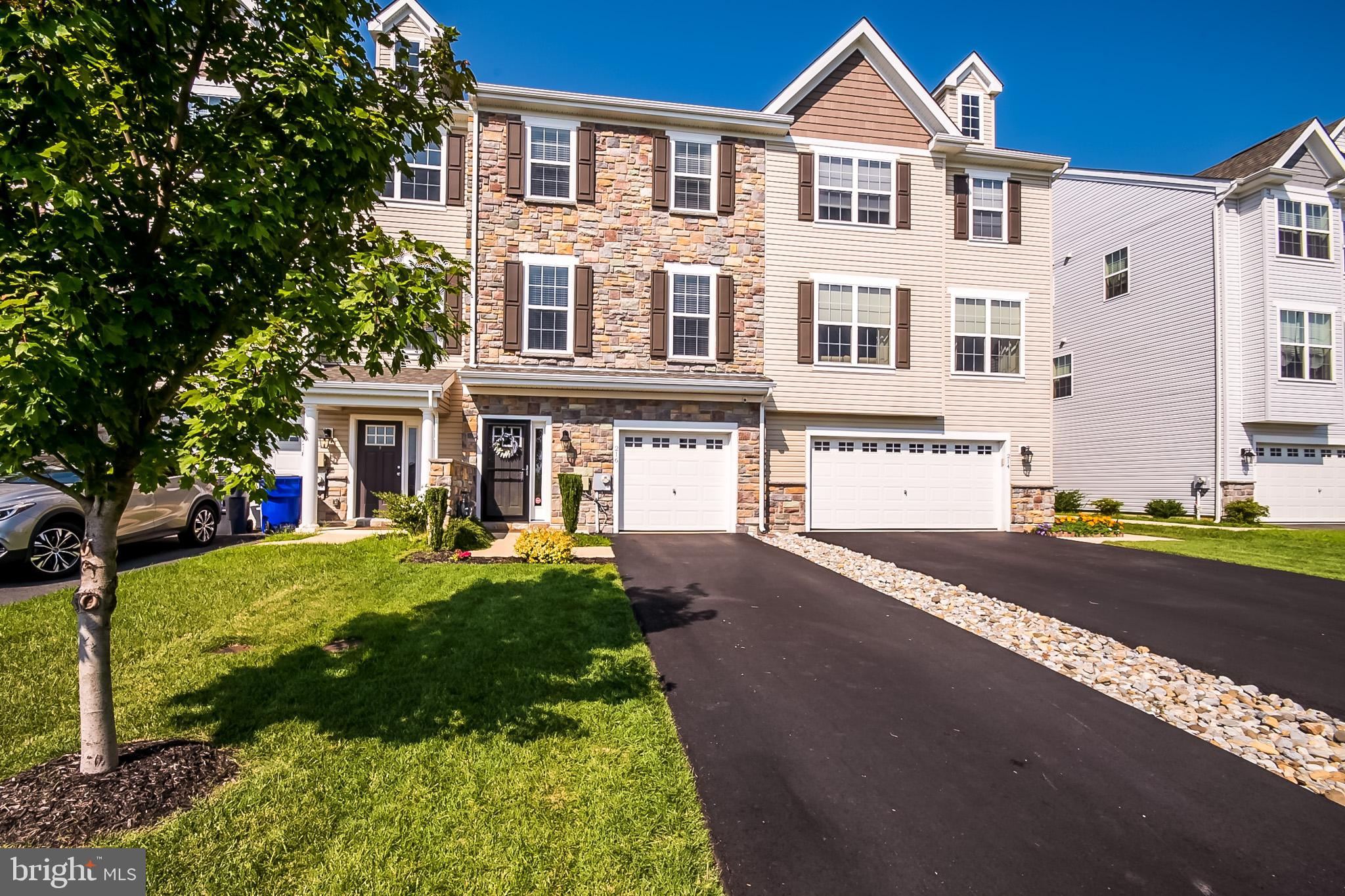 Visit this home virtually: http://www.vht.com/434101487/IDXS - Are you looking for a recently built townhome in the beautiful community of Ponds of Odessa that has a new construction feel, without the wait and price tag?  If so, look no further than 216 Rutland Ave in Middletown!  When you arrive for your tour, notice how the bold multicolor stone front of this home pops out from the rest! Park in front of the garage and enter through the main entryway to be greeted by a stairwell, garage entrance to your right and hallway that leads to a backroom.   This backroom has so much potential!  Currently used as a utility room complete with laundry, this room can also be used as an office, playroom or 4th bedroom!   Before leaving the first floor, step out the sliding glass doors to the rear paver patio and feel relaxed as you enjoy the seclusion of the tree lined and fenced in rear yard.  On the main level, you will be amazed by the open floor plan concept perfect for entertaining!  First, continue imagining the outdoor entertaining possibilities as you exit through the sliding glass doors to the newly constructed and maintenance free composite deck with white vinyl railing!  Bring the entertaining inside to enjoy the dining area that connects to the functional kitchen complete with an island.  Enjoy the open floorplan concept of the kitchen and dining as it naturally flows into the family room where you can take the stairs to the third level.  For the final level of your tour, check out the large master bedroom complete with a walk-in closet and full bathroom.  Make your way to the front of the home where you will find two perfectly sized bedrooms and a full bath.  If you want to be a part of the thriving Middletown community where shopping, restaurants and entertainment are all at your fingertips, than this is the home for you!  Do not want any longer to schedule your tour!