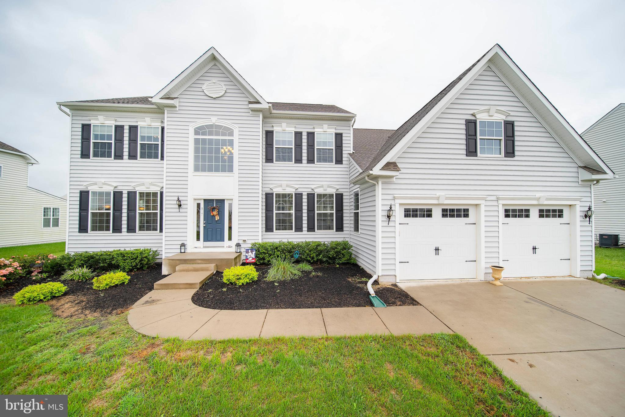 https://vimeo.com/457743089**** Why wait for new construction when you can be here! Close proximity to Route 1 in sought-after Ashby's Place.  This 4 bedroom, 6 full bath home has been well cared for and is like new! Gracious open concept floor plan welcomes you upon entry from the two-story foyer with espresso hardwood floors.  The entry foyer is flanked by formal living and/or office and dining room with wainscoting and stately columns.  The formal dining area flows seamlessly to generous family room and open kitchen.  The centerpiece of the family room is a gas fireplace.  The ample windows on the rear elevation allow for plenty of natural light and peaceful view of the pond. Gourmet kitchen with large center island, granite countertops, stainless steel GE Profile appliances and 42-inch cabinets.  Eat-in kitchen comfortably holds kitchen table.  Mudroom entrance from the garage with pantry leads to separate laundry room.  Office with full bath complete the first floor.   The second floor hosts luxurious Owner's suite with sitting area,  large soaking tub, his & her vanities with granite, and tile surround shower.  The other 3 generously sized bedrooms on this floor are all ensuite bathrooms.   Large finished basement with areas for TV entertainment, pool and other games complete with full bath.  Plenty of storage in unfinished areas of the basement.  Oversized two-car garage.   You won't want to miss this luxury estate home with many upgrades: schedule your tour today!