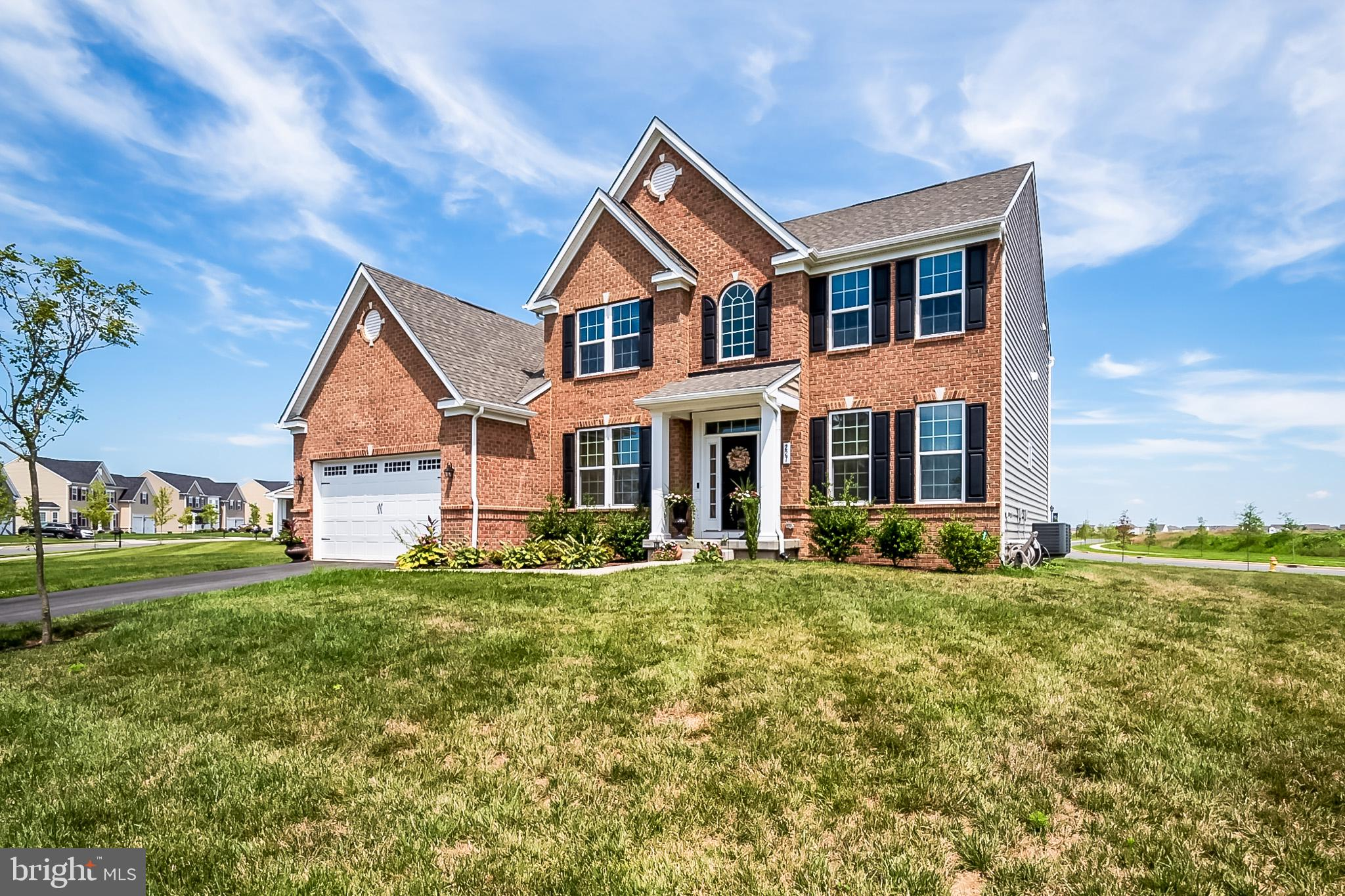 This Beautiful and Unique Jefferson Square Model in the sought after Appoquinimink School District, was  built in 2017, by Ryan Home builders, and its the only one of its kind in Delaware.  Enter into the stunning 2 story over look Foyer and curved staircase. This model offers Crown molding and a upgraded recessed lighting package in the living room, dining room, office and throughout this home. 42 inch kitchen cabinets with crown molding, large counter tops and an extended kitchen island, stainless steel appliances, upgraded gas cooking stove, walk in pantry, with bonus morning room and planners desk is all found in the gorgeous gourmet kitchen. You will find  9? ceilings in the Morning Room and throughout this home.  The 2 story foyer has  hardwood flooring that leads into a huge separate formal living room and dining room.  The Over sized Family Room features a gas fireplace with an overlook of the gourmet kitchen and well landscaped yard.  Upgraded owner suite comes with a separate sitting area, tray ceiling and 3 large closets.  Relax in your upgraded master bathroom with double vanities, Jacuzzi soaking tub, tiled shower and upgraded ceramic tiled floors. There are 3 additional nicely sized bedrooms on the upper level with a full upgraded tile Hall bath. The lower level offers a beautifully finished basement area with walkout entrance,  bar, unfinished exercise and movie theater rooms plus a bathroom rough in.  The upstairs Laundry room also comes with rough in for a utility tub. Secondary bathroom with double bowl vanity and upgraded ceramic tile. Full Attic for ample storage. This upgraded home has a Full brick front with partial porch.  All rooms are Cable ready,  Wall mount ready with a ton of outlets. Dual level heating and air conditioning with  ceiling fan rough ins in all rooms plus a Tank less water heater to top off this diamond in the rough . This home is a corner lot that sits on a   .61 - lot,  Across from the Golf Course, its pure perfection and 
