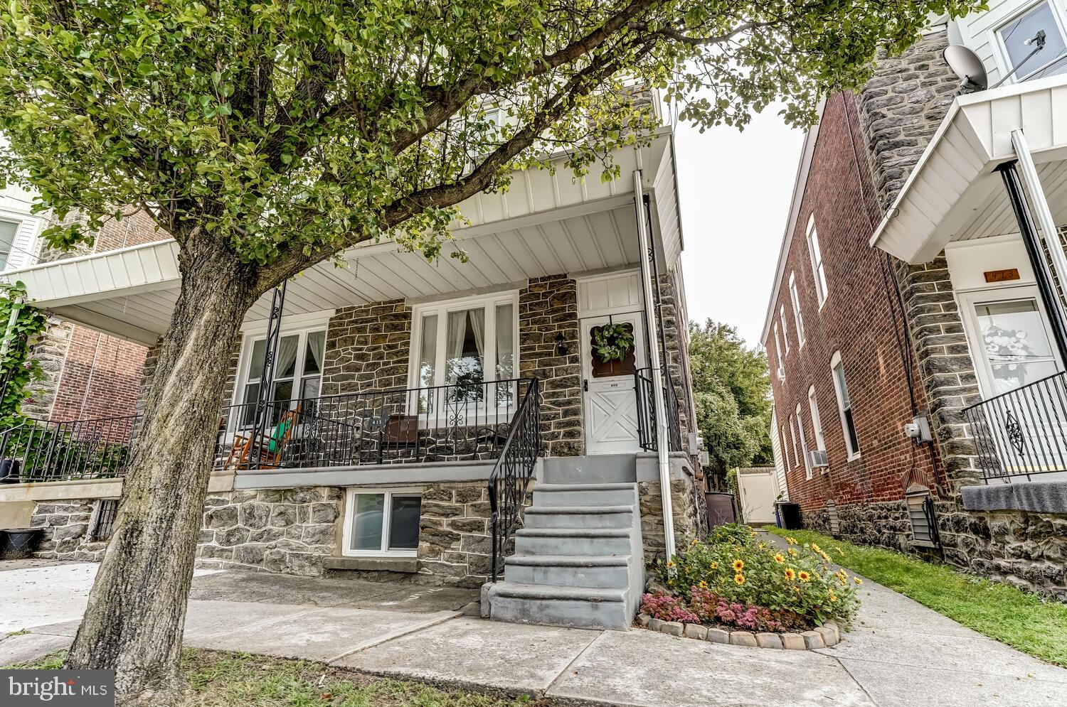 Buyer's mortgage fell through - their loss is your gain! Move-in ready stone twin in the heart of highly sought-after Manayunk/Roxborough!  The spacious first floor includes a livingroom, dining room and kitchen and has new hardwood plank flooring and is freshly painted. A good-sized laundry room/mudroom and half bath, as well as both front and back staircases round out the first floor. Upstairs you will find 3 generously sized and freshly painted bedrooms, all with roomy closets and also with new hardwood plank flooring. A full bath completes the 2nd second floor. But wait, that's not all! The huge and tidy basement has high ceilings and is just waiting for your workshop, storage or even to be finished for additional living/entertaining space. The fenced in backyard with concrete patio and front porch provide outdoor space and extra green space across the street gives the block an open and airy feel. Public transportation, ample parking and Daisy & La Noce Parks are all walkable, as is the Wissahickon/Fairmount park system as well as all Manayunk has to offer. Schedule your showing today!
