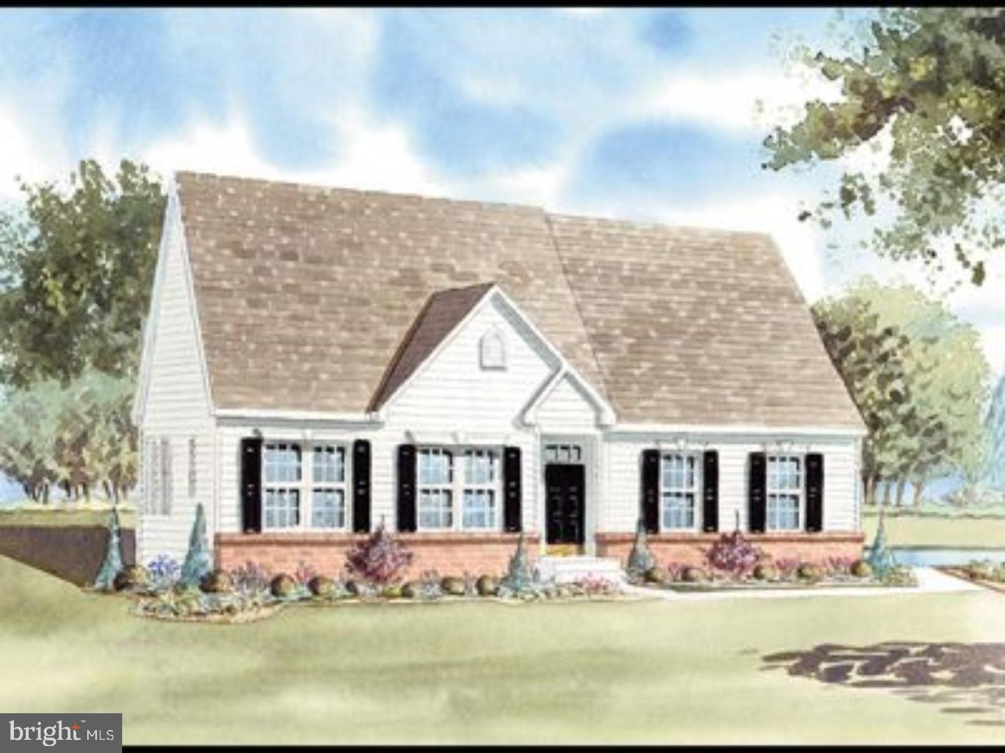 Sassafras Model- to be built. 3 bedroom, 2 full bath ranch home with vaulted ceiling in the great room, breakfast room, eat in kitchen with breakfast bar, formal dining room and the master bedroom suite with master bath and walk-in closet. Add a second floor area for your guests featuring a loft, bedroom and full bath.  This open floor plan can be build with an option sunroom and an optional 3 car garage. Semi-Customize your new home!  With all of the standard features such as side entry garages, stone water table, granite counter tops and stainless steel appliances. There is no need to look any further!  Public sewer & water.
