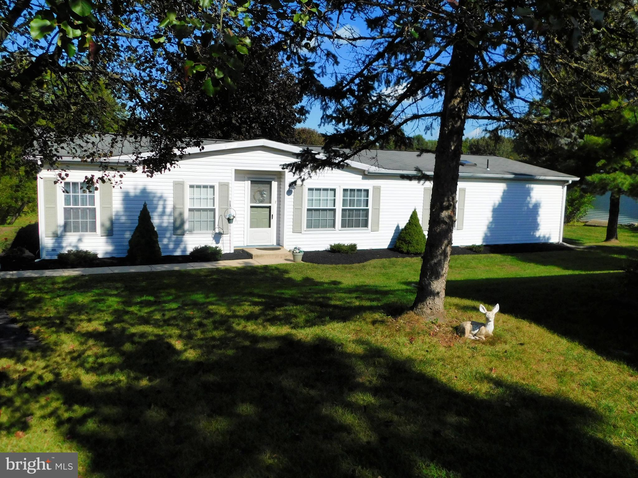 Well maintained large three bedroom manufactured home located in Walnut Meadows, an age restricted community.  The home is located at the end of a Cul-de-Sac. One of the largest homes in the community the includes a 12 x 20 three seasons sun porch.  This home features a formal living room, family room and a open concept with large kitchen and dining area.  The master bedroom has a walk-in closet and features a master bath with a jetted tub.  This home is just waiting for your personal touches to make it a special place.  Land rent is $750 which can increase.  Lot rent includes Pool, Club House, sewer,  trash, maintenance of common areas that includes snow removal (snow removal of house parking area are the responsiblity of the homwowener).  Listing Agent is related to the seller.