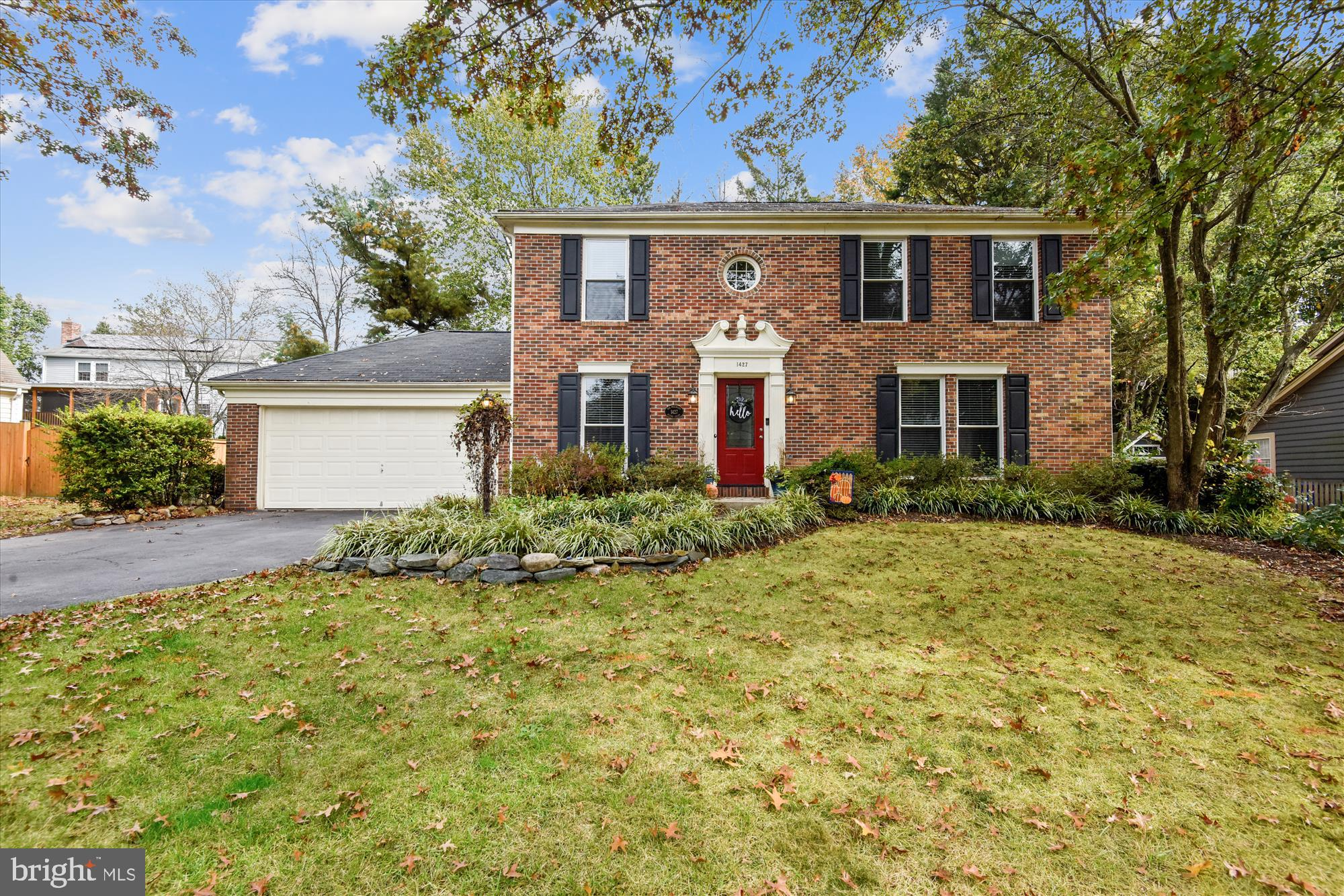 Built in 1988, this spectacular Burlington model brick colonial is located on a quiet cul-de-sac in Hastings Hunt. The home sits on a 8,693 sq ft lot, with a flat yard, playset, and small fish pond with a pump. The main level features hardwood floors and recessed lighting. The kitchen was renovated in 2015 complete with new white shaker cabinets, granite counters, stainless steel sink, stainless steel appliances, and opens to an eat-in kitchen and a cozy family room with fireplace and built-ins. The family room opens to a wooden deck overlooking the yard. The main level also a formal dining room, powder room, and former formal living space turned into a Covid home-school station. The upper level features a large owner's bedroom with walk-in closet, and en-suite bath renovated in 2018. There are 3 other bedrooms with great closet space that share a recently renovated hall bath with brand new dual-sink vanity, and a tub/shower. BONUS: Bedroom level laundry! A rare find. The lower level features a carpeted rec room, 3rd full bath with stand up shower, and a large storage room. Numerous upgrades include: new windows (2015), HVAC (2010), roof (2010). HOA fee is $140/quarter and includes trash/recycling and snow removal.
