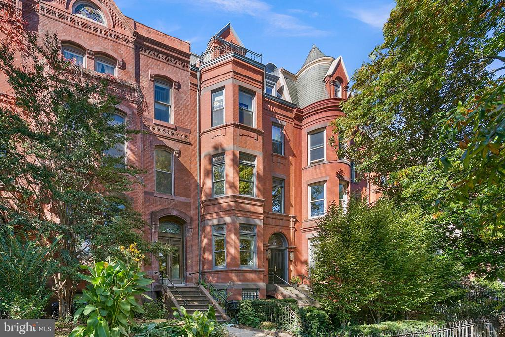Welcome to the most sought-after address of the season, a Logan Circle escape where contemporary style and comfort converge like never before. The ultimate example of curb appeal, the home's grand Victorian facade sets the tone for what you'll find within: a one-of-a-kind haven that exudes sophistication at every turn. Set over one expansive floor, this exclusive condo features two beds, two baths, and plenty of pleasant surprises found throughout. Inside, a bay window, soaring ceilings, and oak hardwood floors envelop you in wonder and warmth. The open, inviting floor plan leads to the gourmet kitchen, a space defined by chic lighting fixtures, state-of-the-art appliances, and a quartz island. The entire home is designed to accommodate all of life's moments from everyday evenings spent unwinding after a long day, to special occasions made for celebrating with friends. Each of the home's two spacious bedrooms would be the perfect space to recharge for your next adventure, while both bathrooms boast exquisite tiling and elegant fixtures. And just off of the master bedroom and kitchen doors, you'll find two picturesque patio balconies that await your next outdoor soiree.  Set in the vibrant Logan Circle neighborhood, this home's many attributes extend beyond its structure itself.  Here, residents will find themselves at the center of it all including the city's most notable dining and drinking destinations, cultural landmarks, idyllic parks, and so much more. Taste your way through the culinary mainstays of 14th Street, explore the picturesque vantages of your community on foot, and run everyday errands with ease. A home that's as memorable as it is in demand, there's no place quite like 1330 Vermont Avenue NW Unit #3. Parking included!