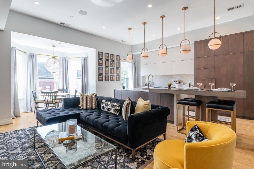 First resale of this 2017 built, exquisite penthouse condo in a boutique, 5-unit building on a serene block in Dupont. Maintained in mint condition with top-of-the-line, eloquent finishes throughout including a true gourmet kitchen with gorgeous cabinets and countertops. This luxurious condo includes upgraded light fixtures, cabinet hardware and window treatments. Approx. 400 SF of private outdoor space including a spectacular roofdeck. Upper level sitting area can be used as a home office. Complete turnkey option to purchase all on-site furnishings. On-site, secure parking also avail. for sale.